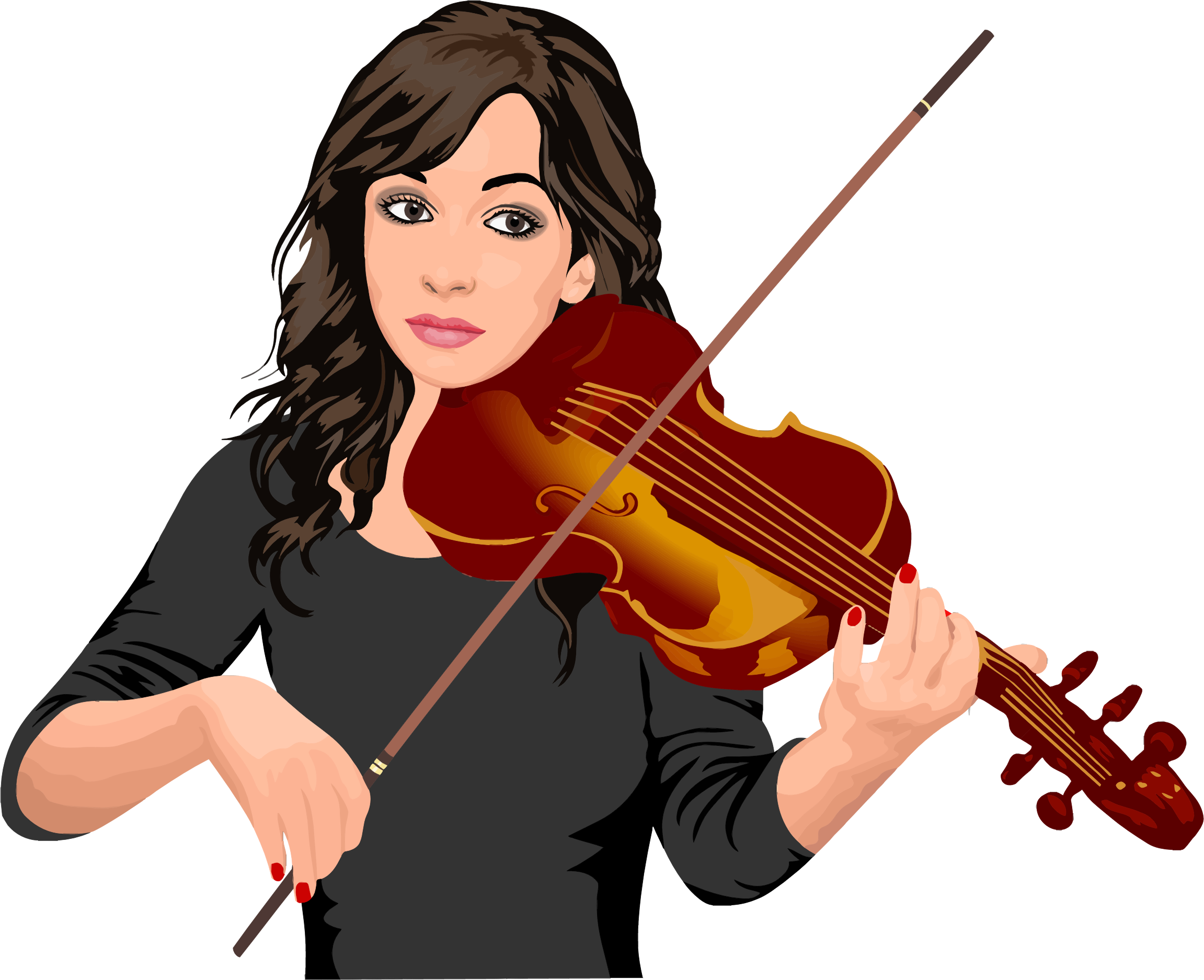 Female Violinist Portrait by GDJ