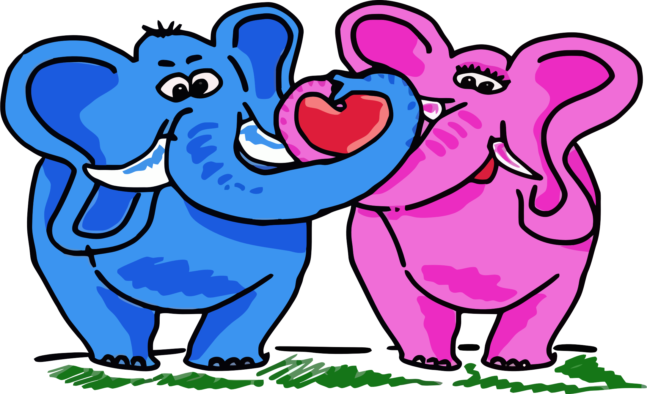 Elephant Couple by GDJ