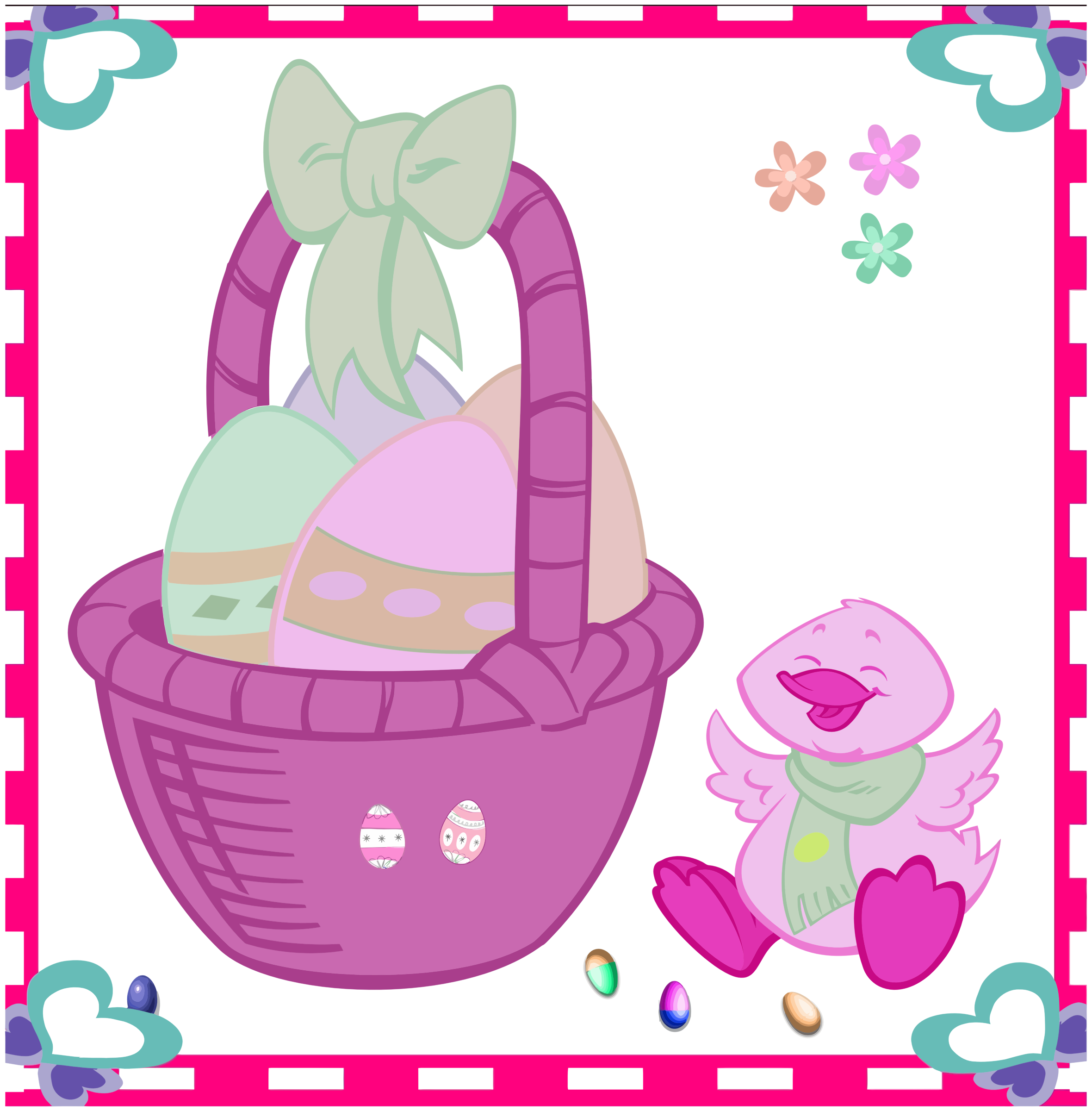 Easter Egg Basket And Duckling 2 by GDJ