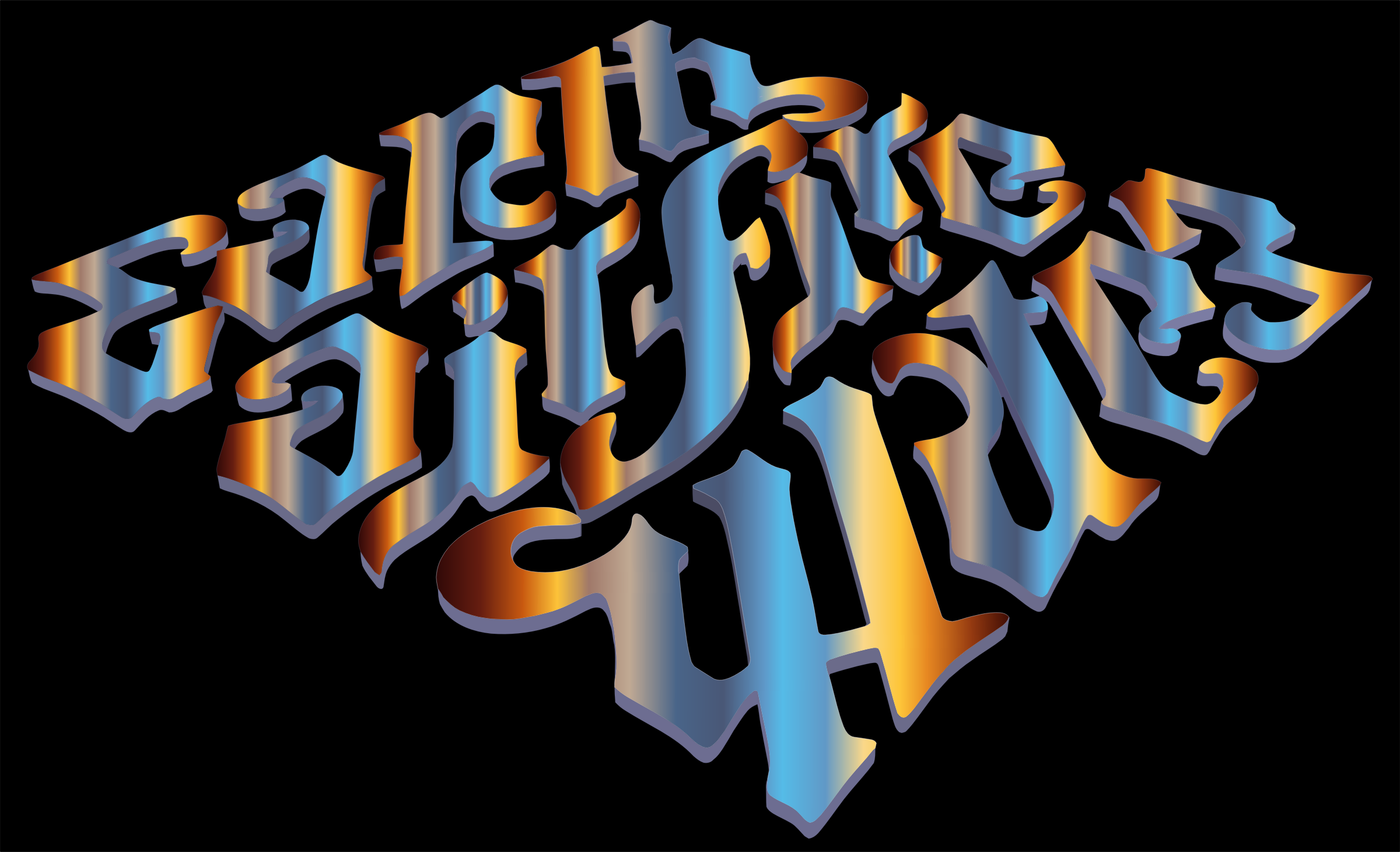 Earth Air Fire Water Ambigram 2 by GDJ