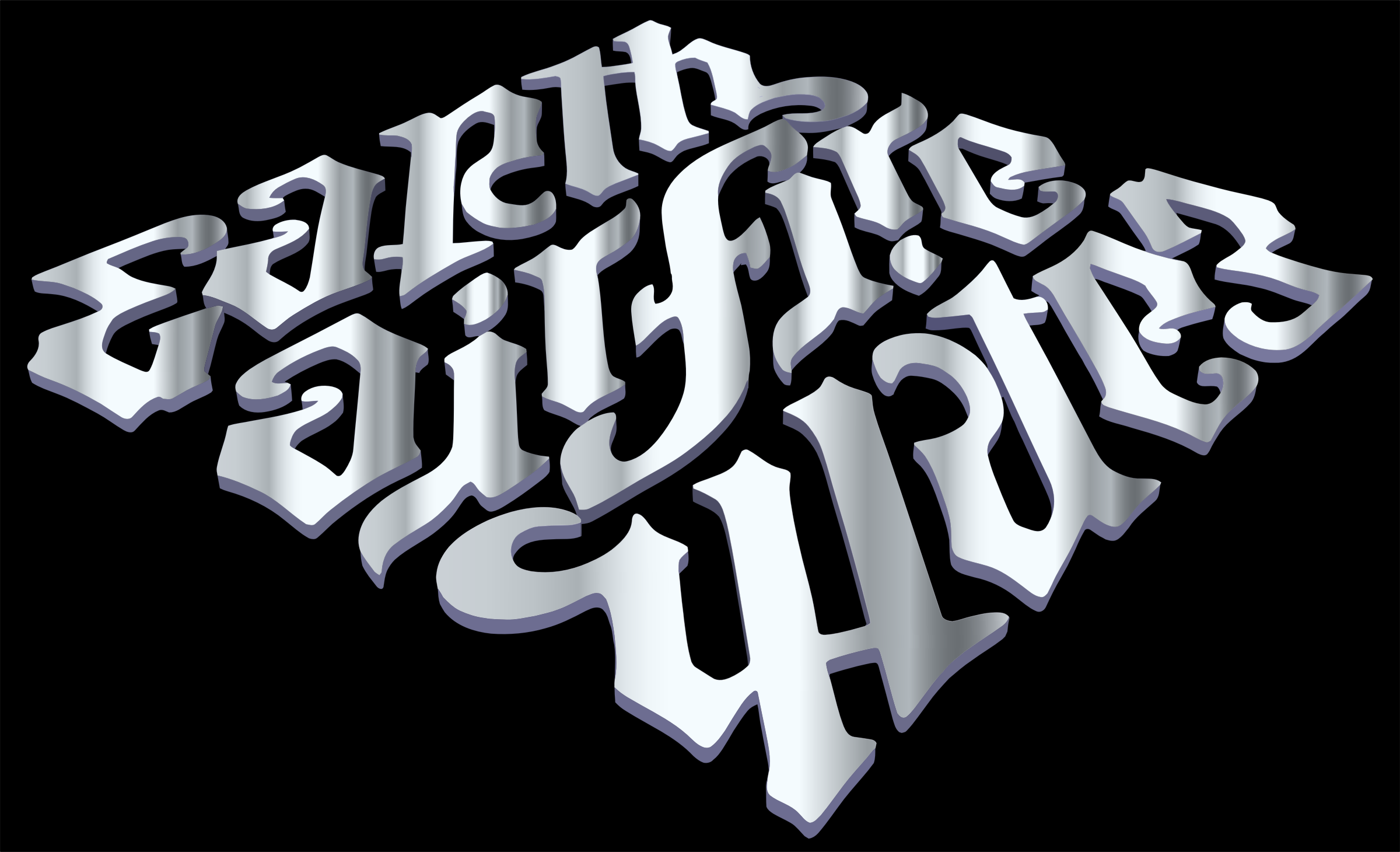 Earth Air Fire Water Ambigram 3 by GDJ