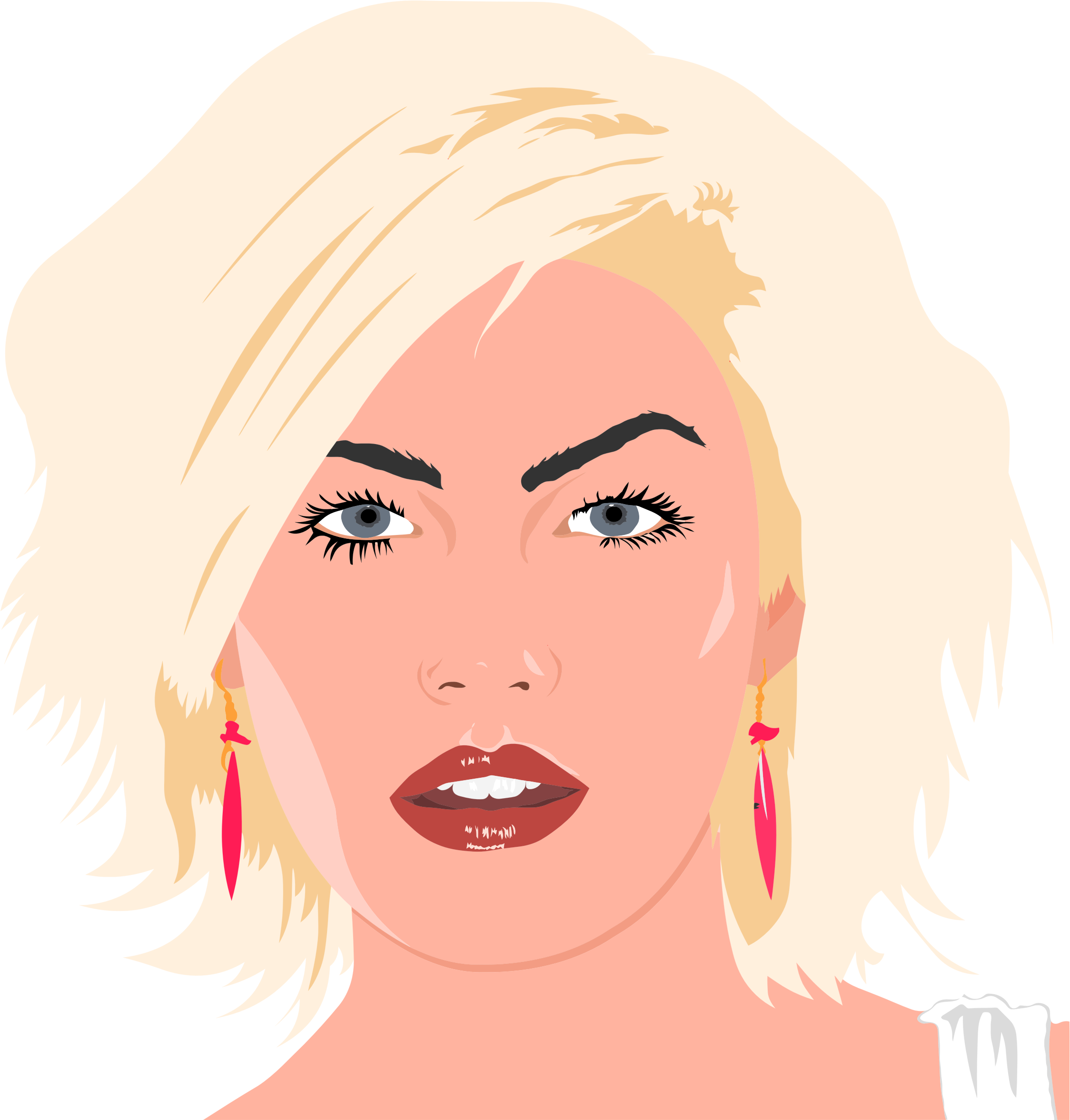 Blonde Woman Portrait Illustration by GDJ
