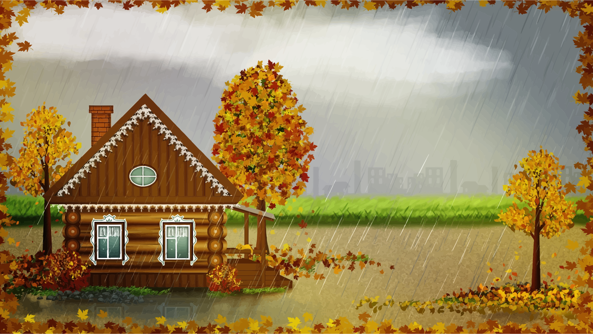 Autumn Cabin 2 by GDJ
