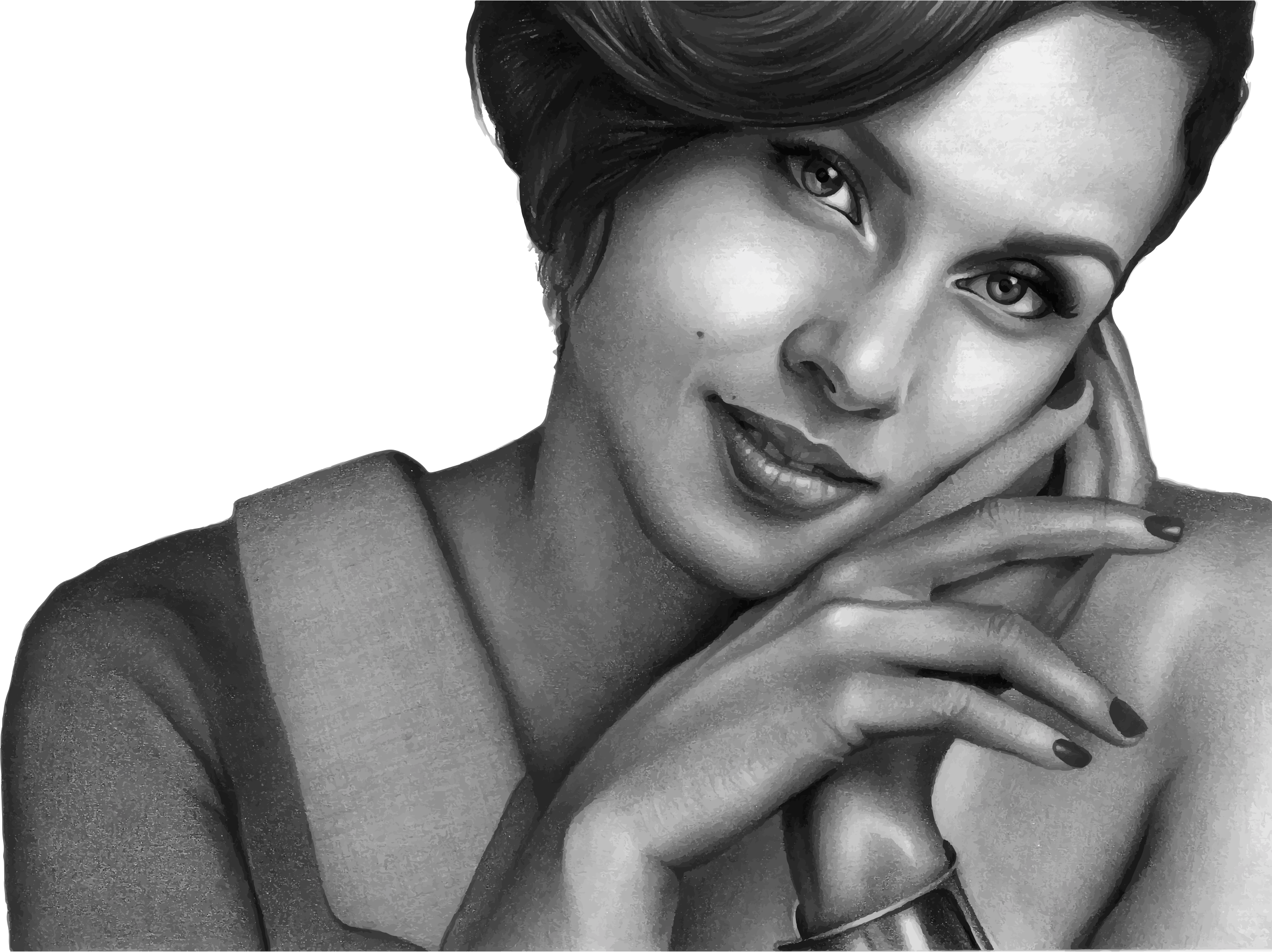 Alicia Keys Portrait by GDJ