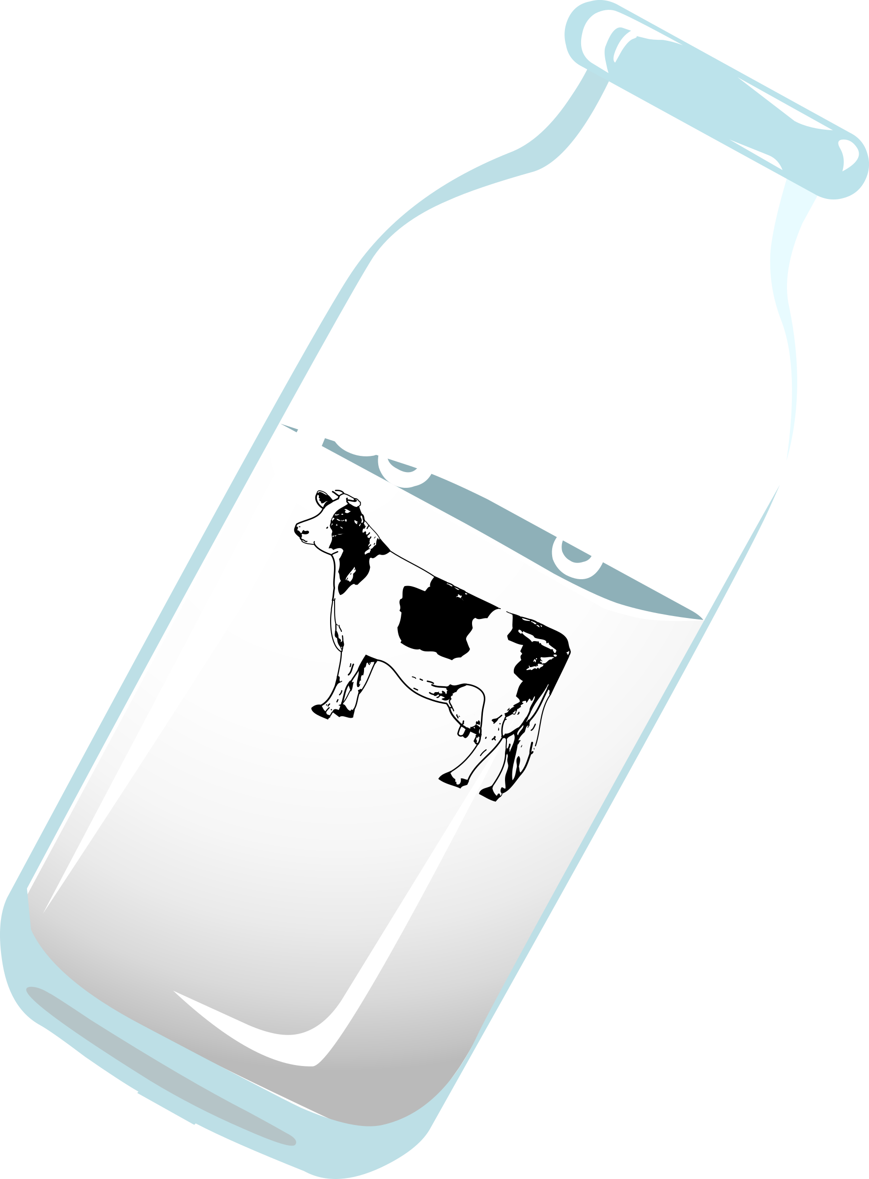 Bottle of milk with cow by Iyo