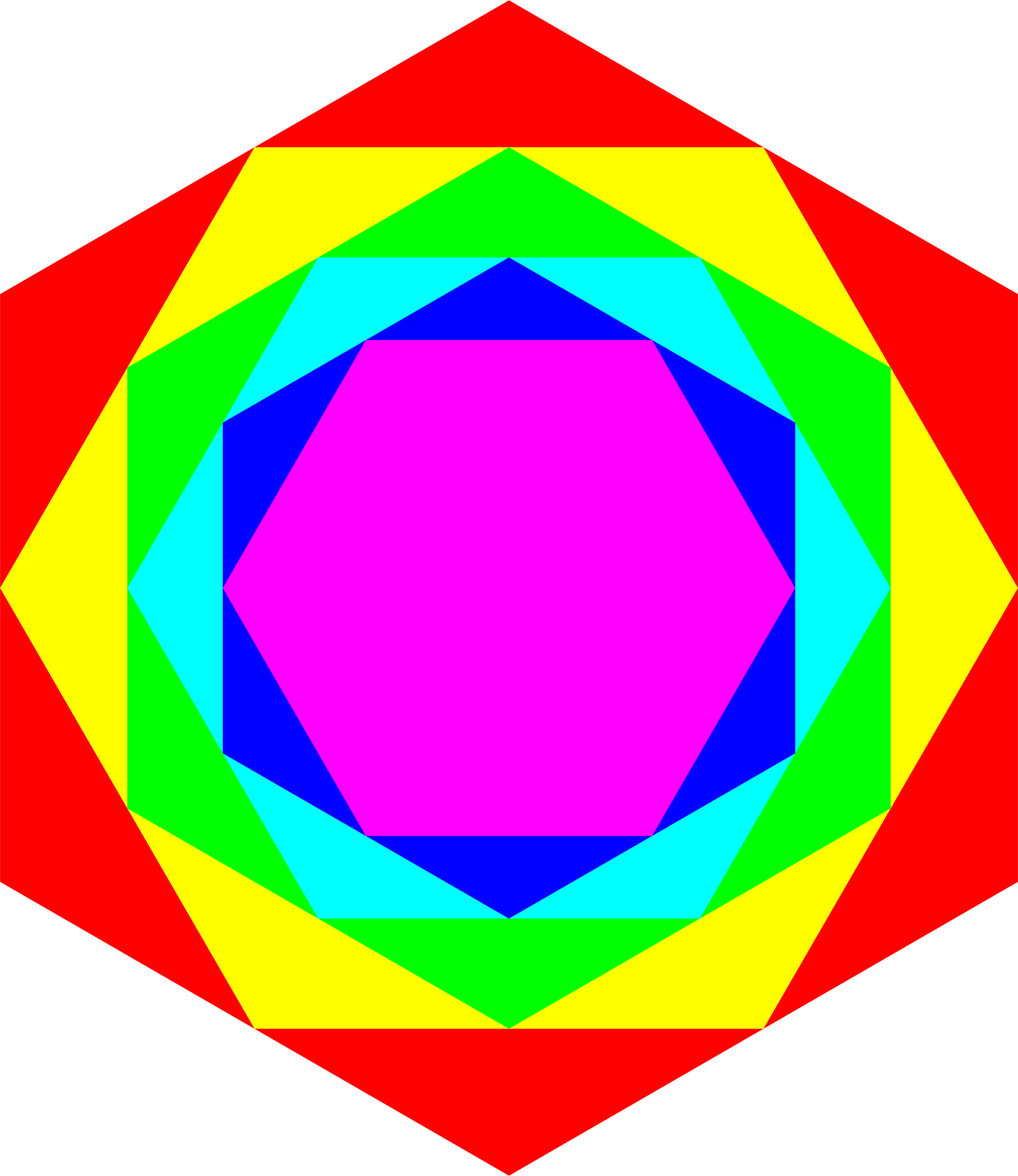 Colorful Hexagons 2-18-2016 by 10binary