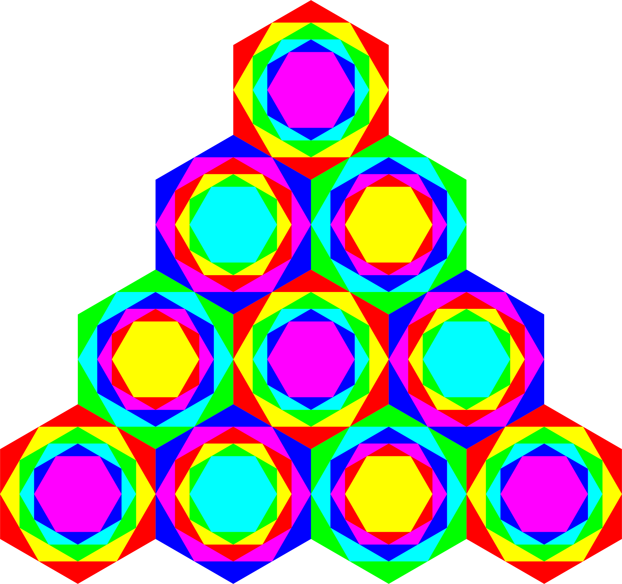 Triangle of Hexagons by 10binary