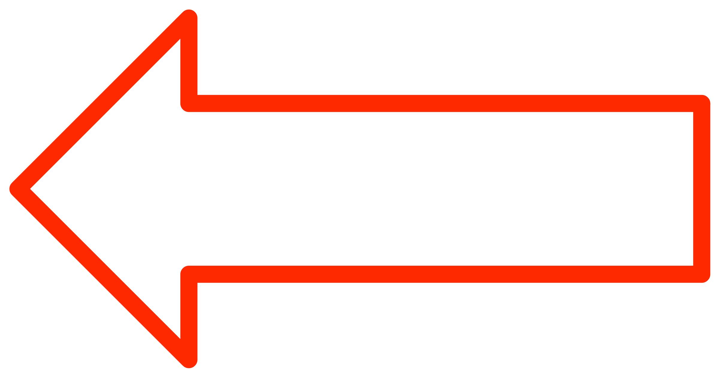 clipart arrow outline - photo #49
