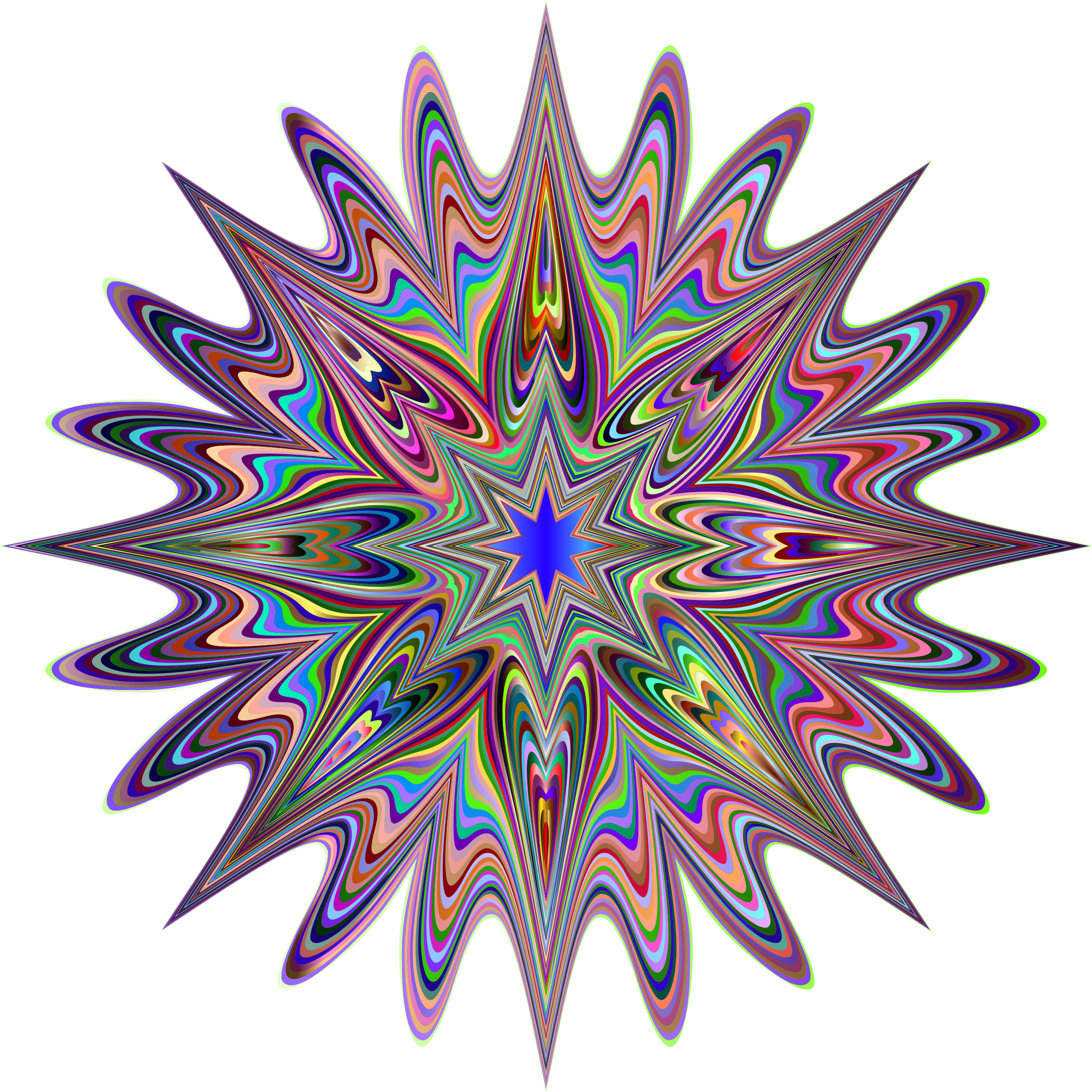 Psychedelic Chromatic Star by GDJ