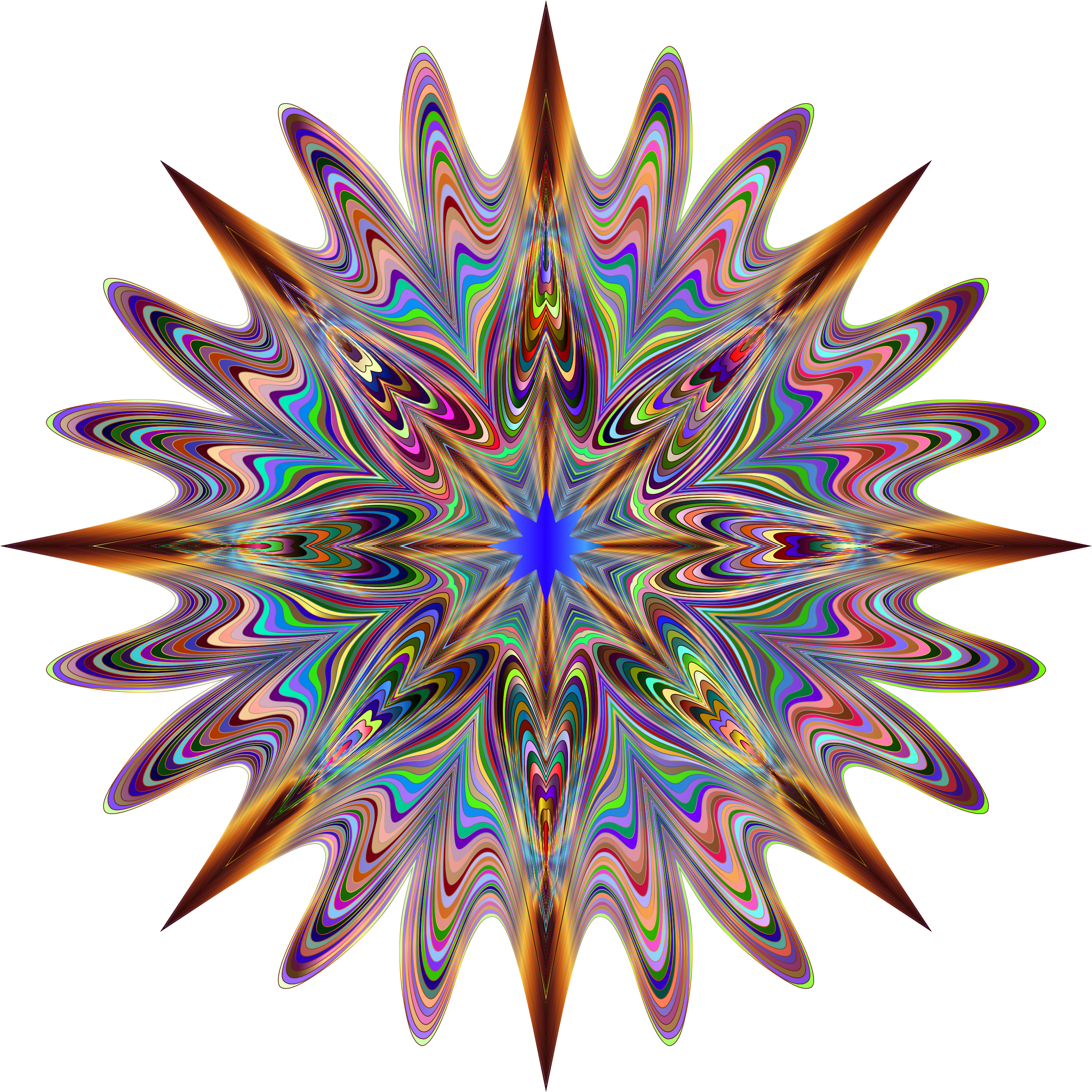 Psychedelic Chromatic Star 2 No Background by GDJ