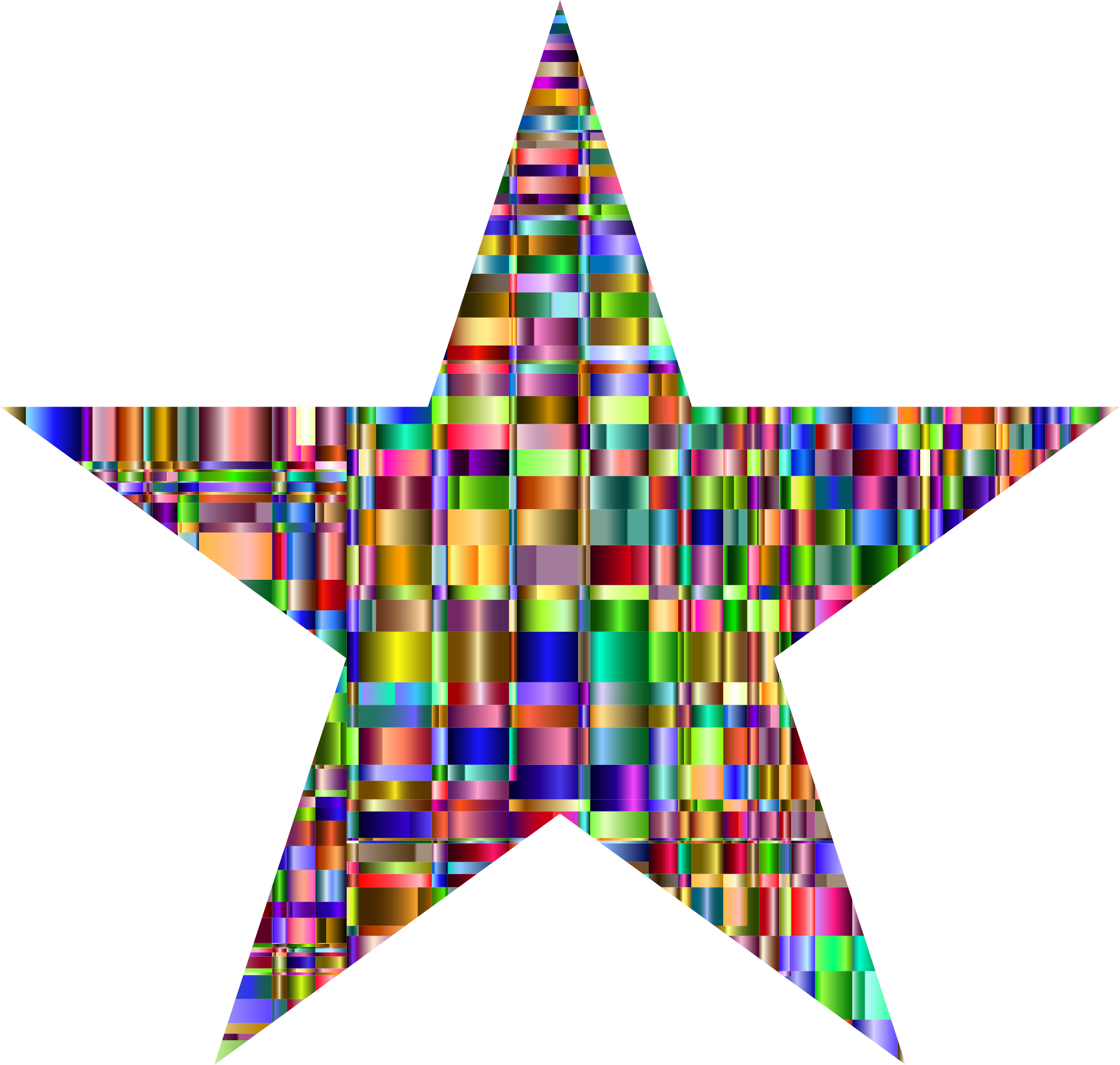 Checkered Chromatic Star by GDJ