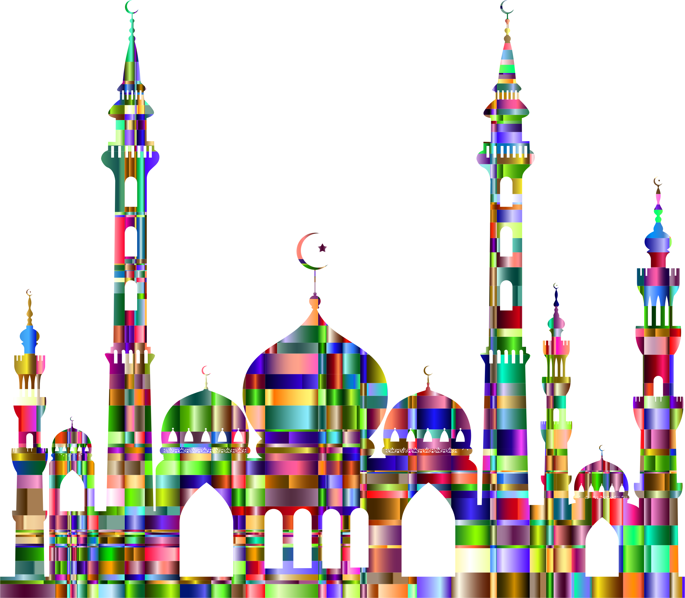 Checkered Chromatic Mosque 2 by GDJ