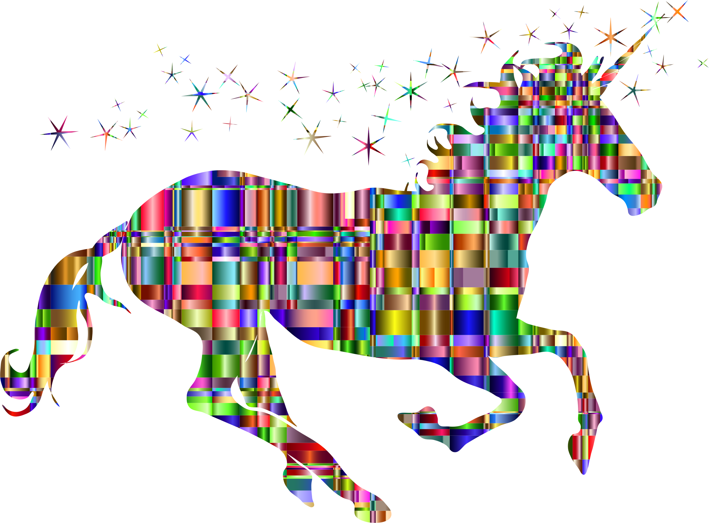 Checkered Chromatic Magical Unicorn by GDJ