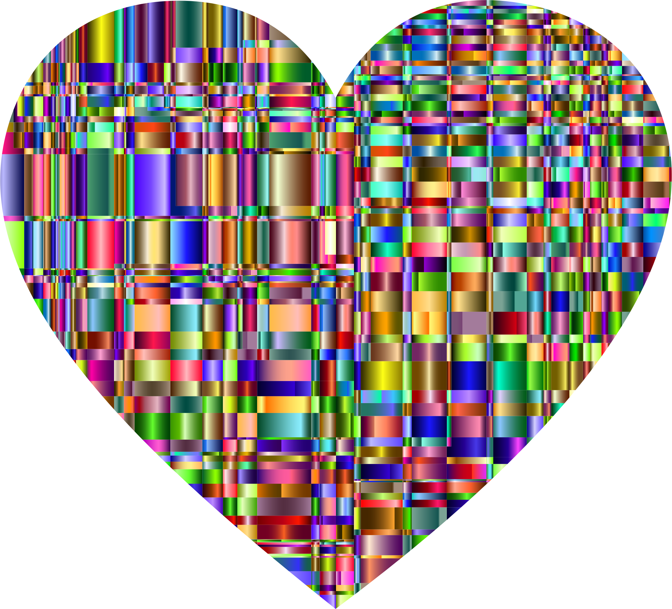 Checkered Chromatic Heart by GDJ