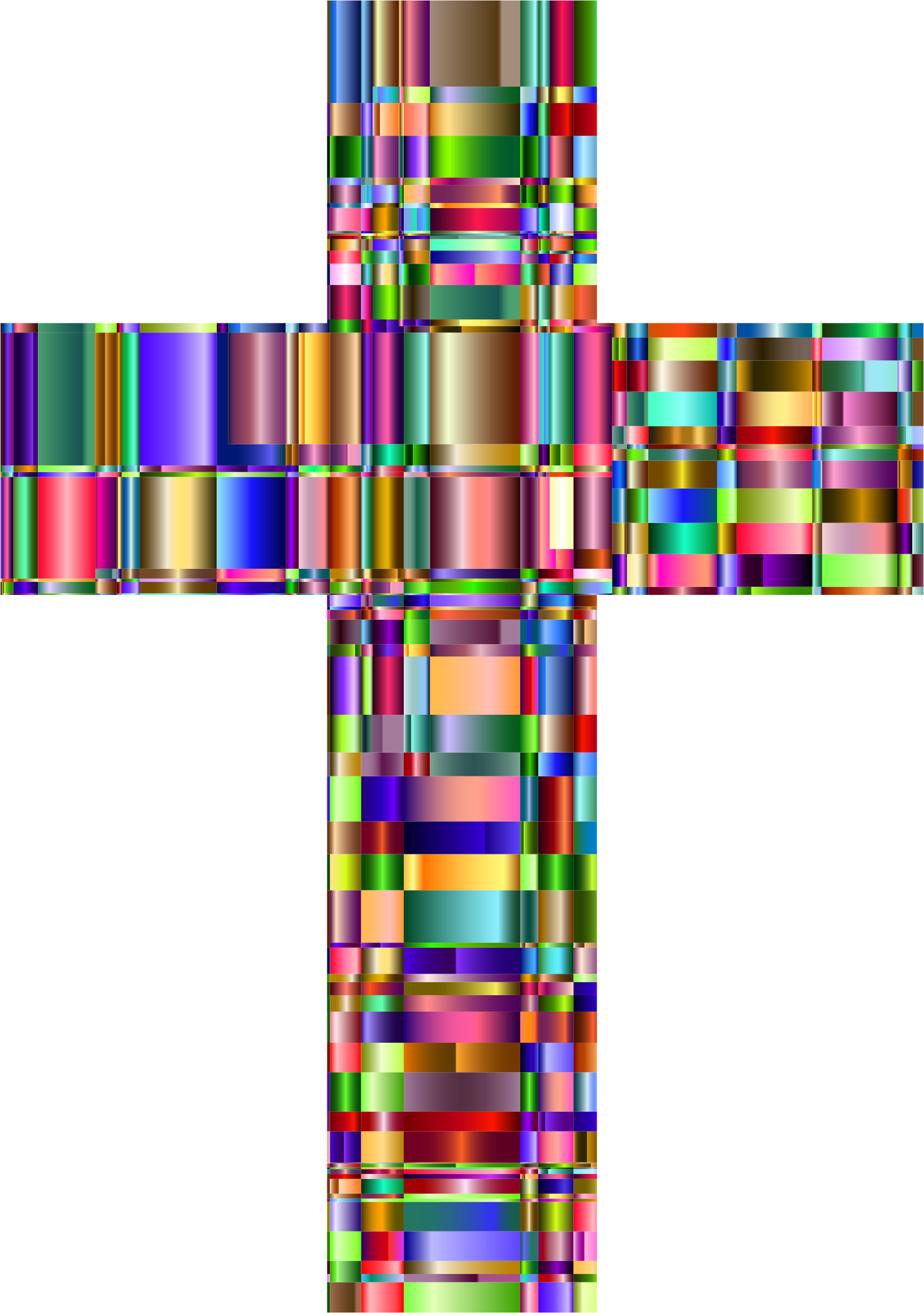 Checkered Chromatic Cross by GDJ