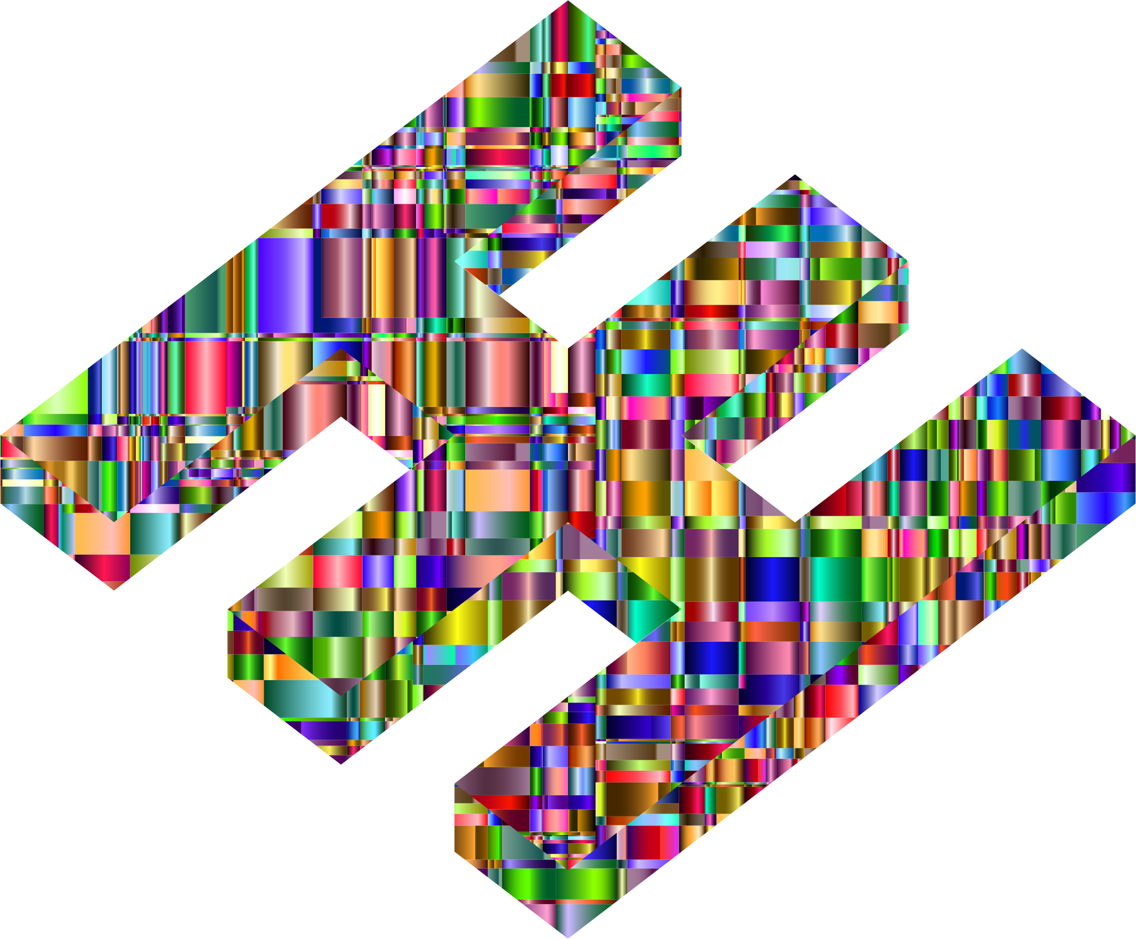 Checkered Chromatic 3D Fabricatorz Logo by GDJ