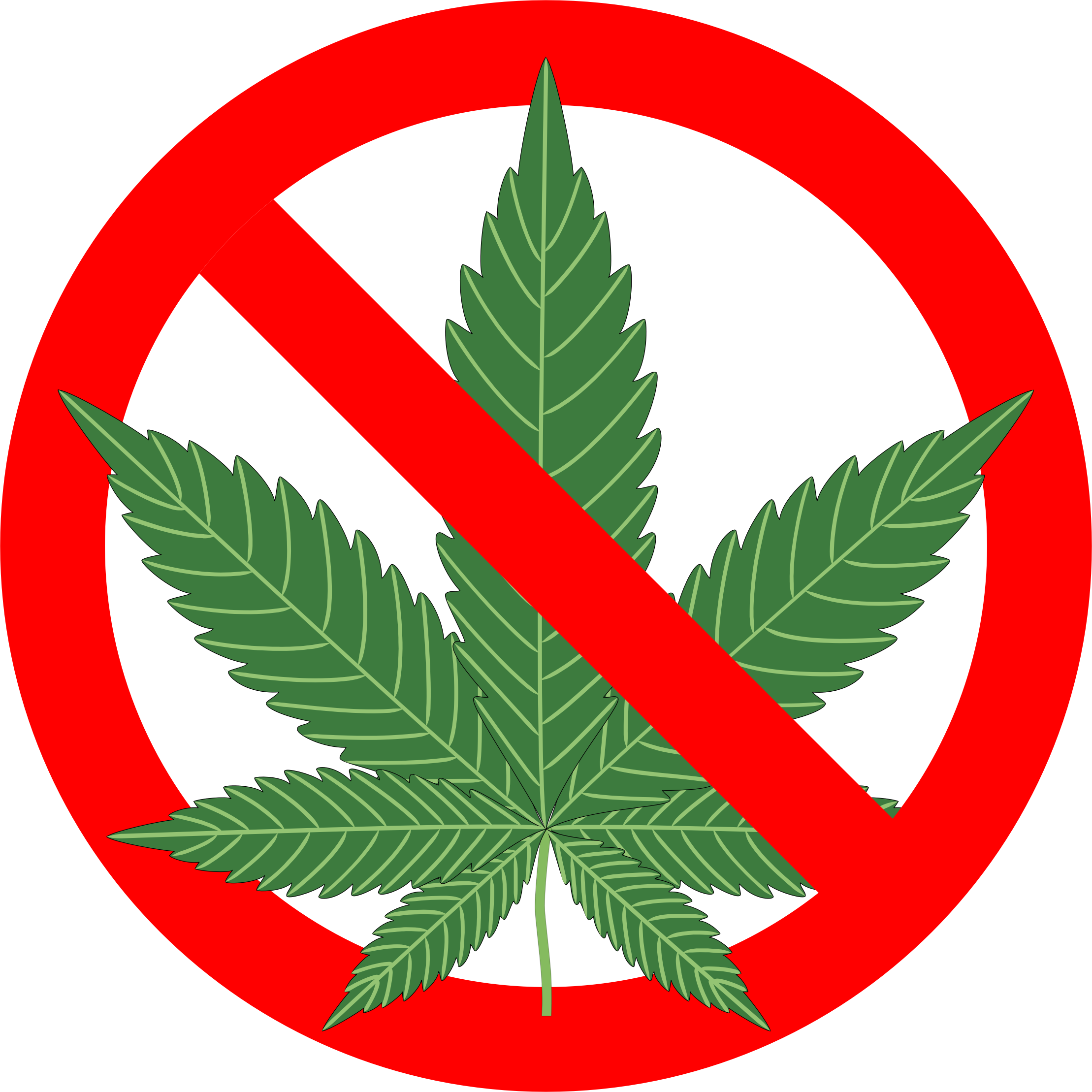 No Marijuana Sign by GDJ