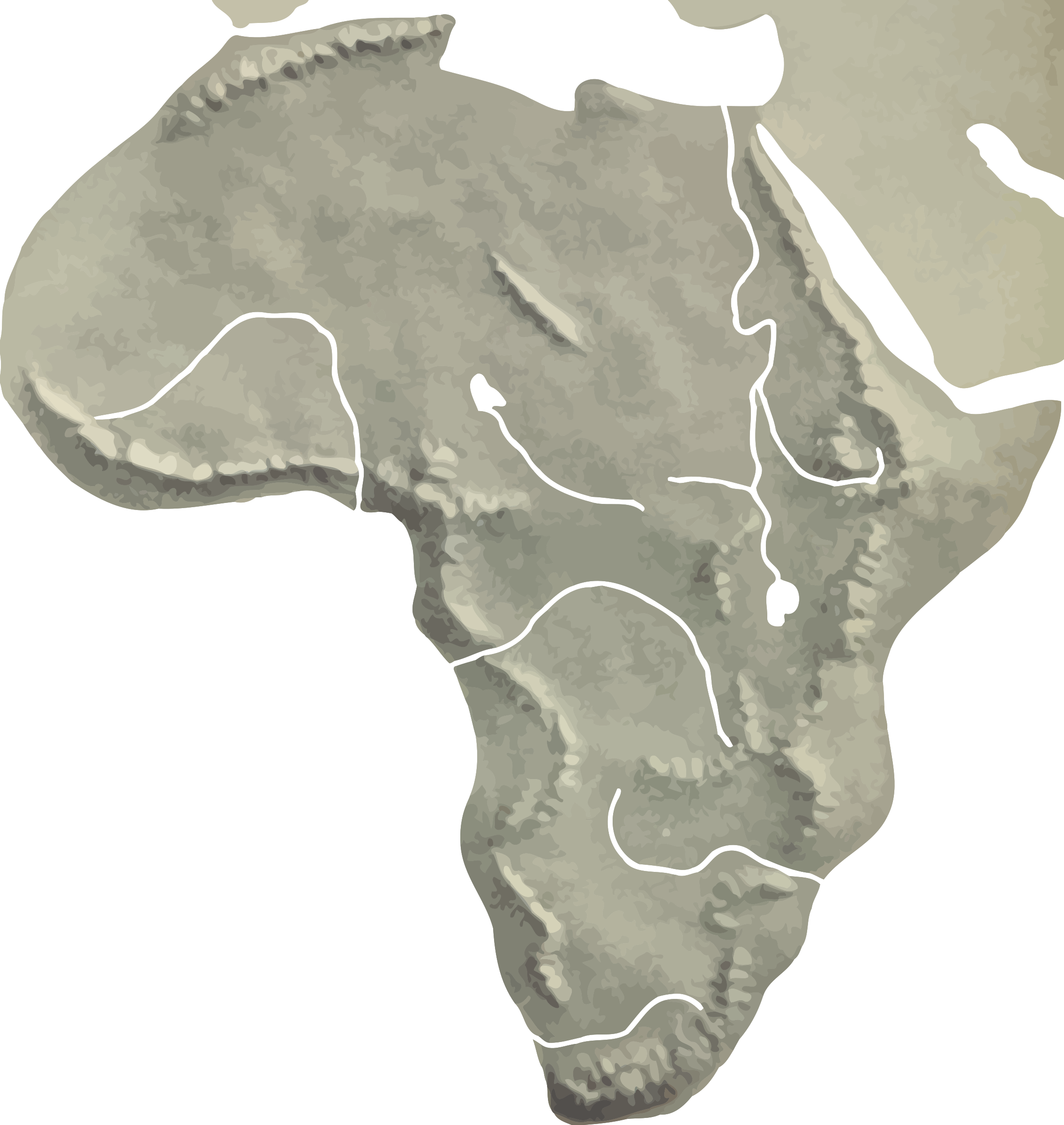 Africa relief map by Firkin