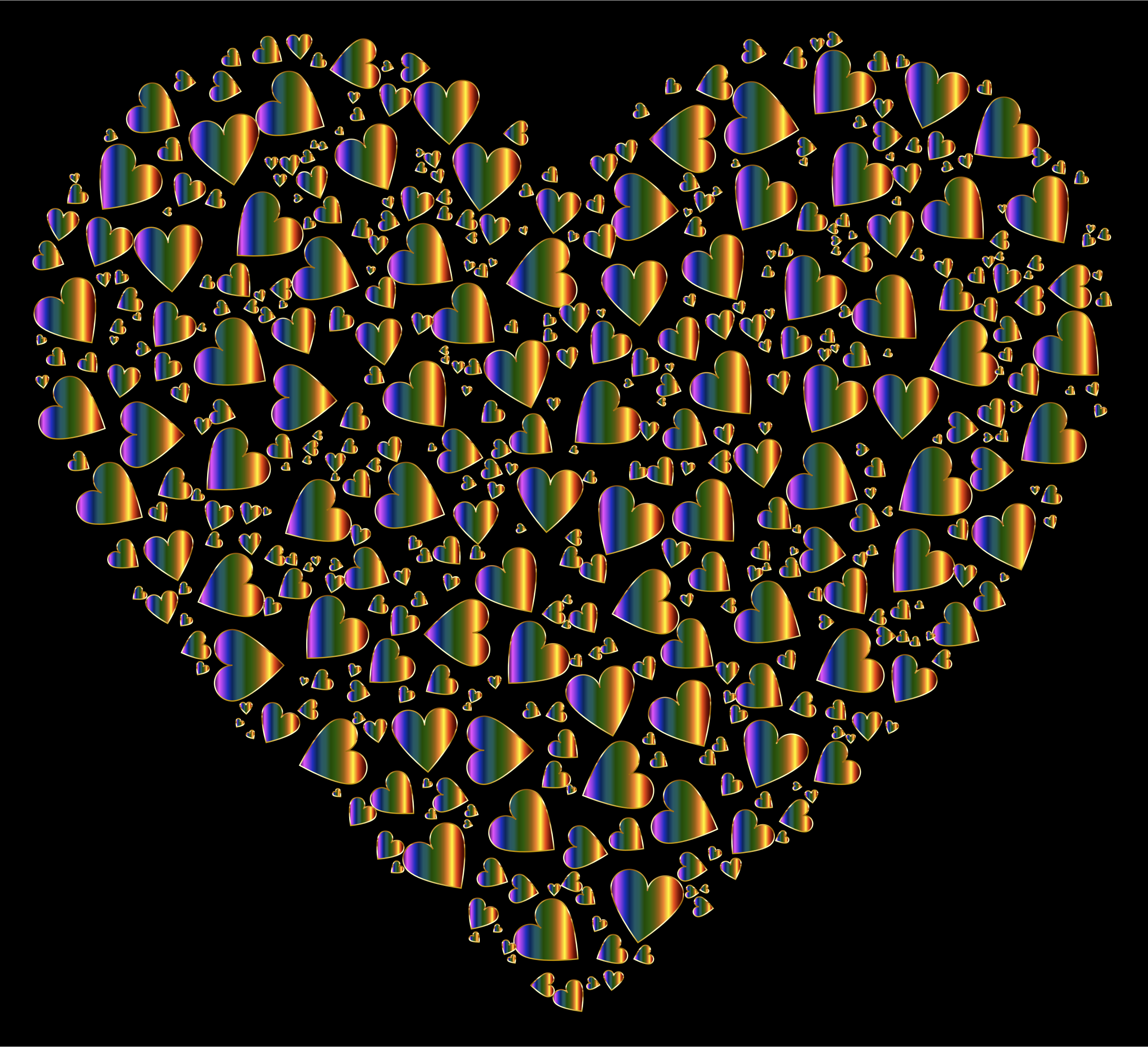 Chaotic Colorful Heart Fractal  10 by GDJ