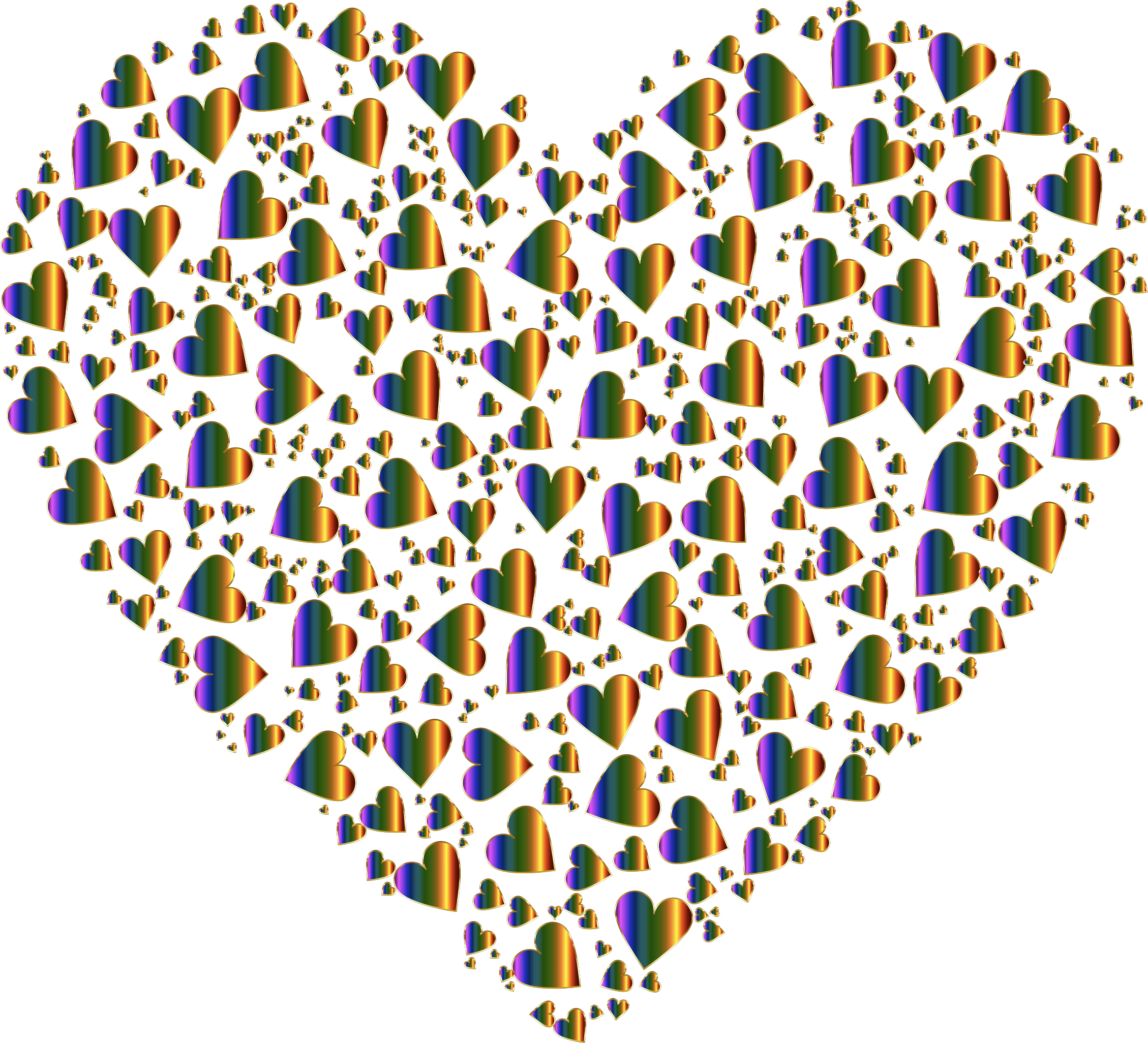 Chaotic Colorful Heart Fractal  10 No Background by GDJ