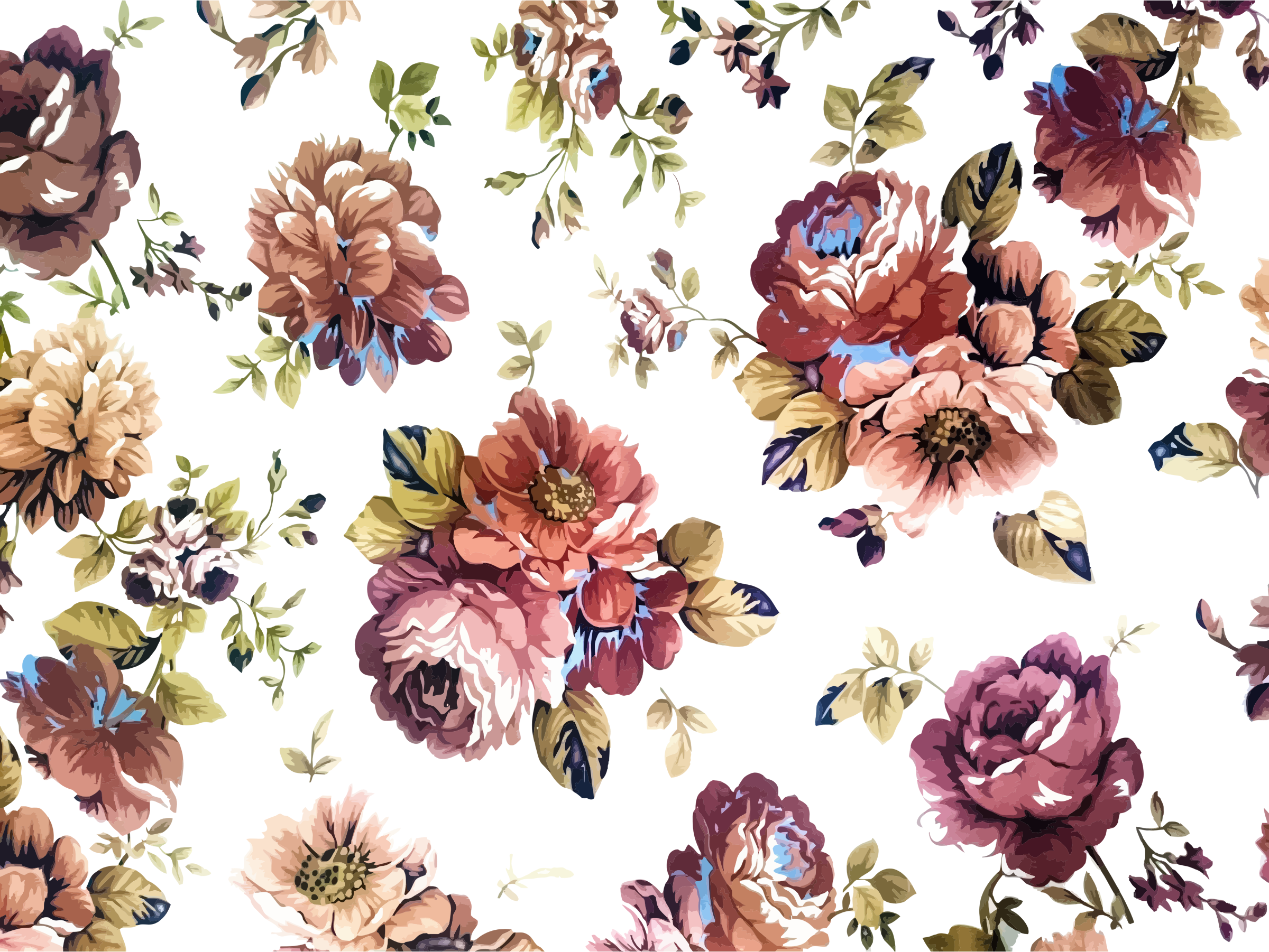 Vintage Floral Texture Background