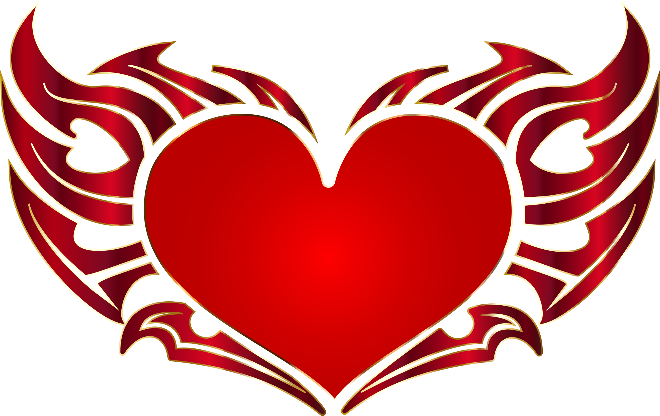 Tribal Heart Enhanced No Background by GDJ