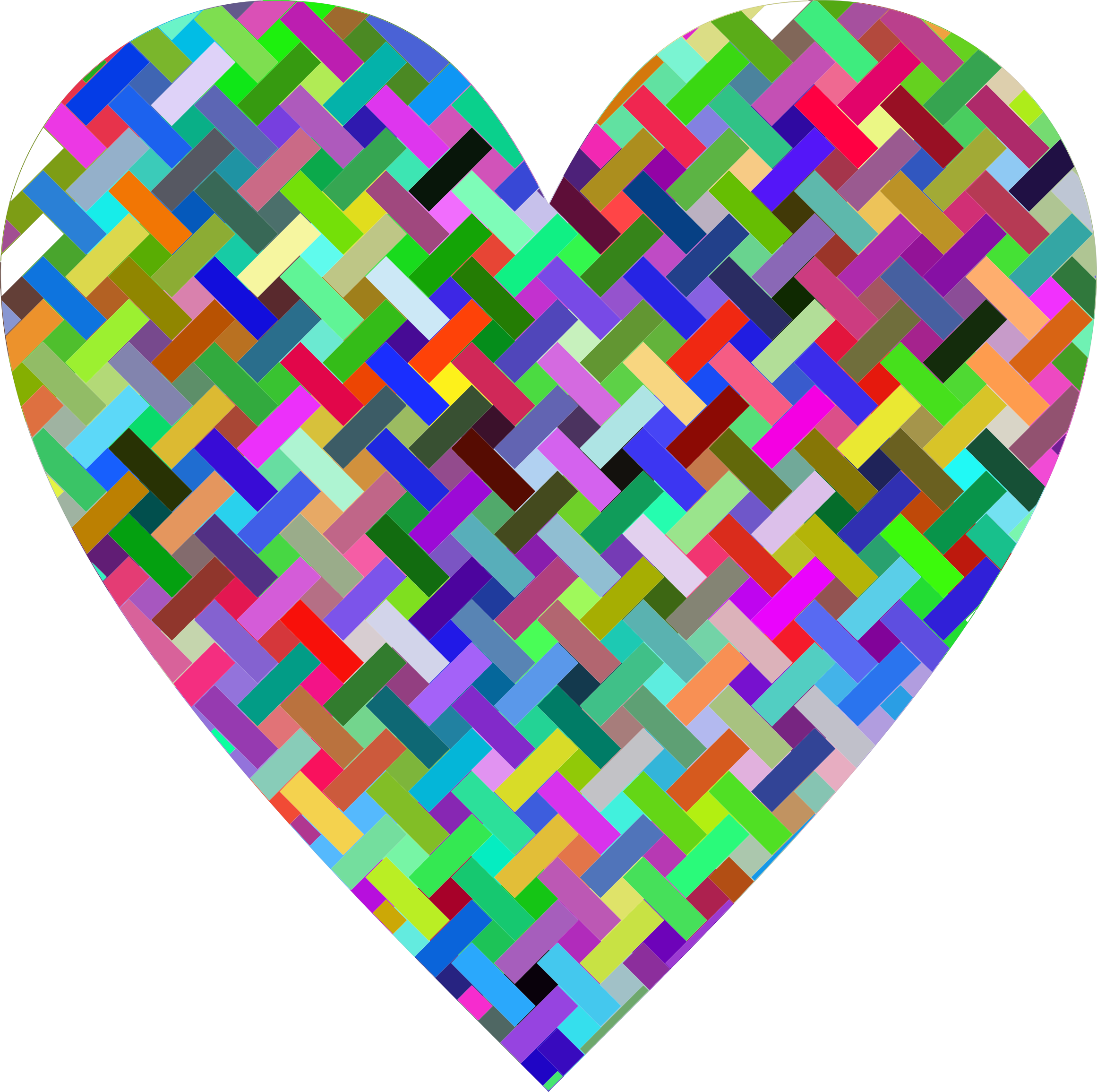 Colorful Heart Lattice Weave by GDJ