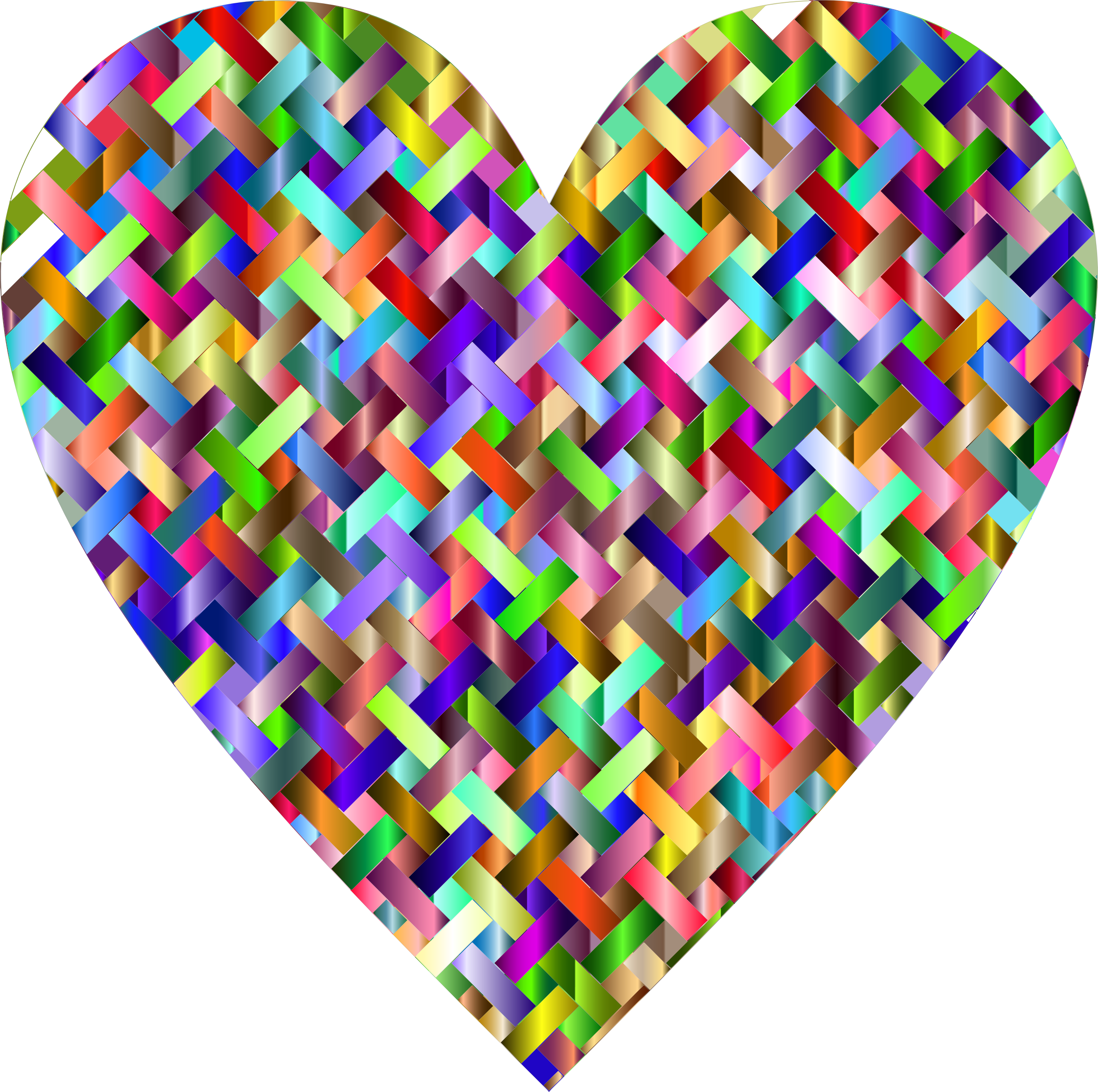 Colorful Heart Lattice Weave 2 by GDJ