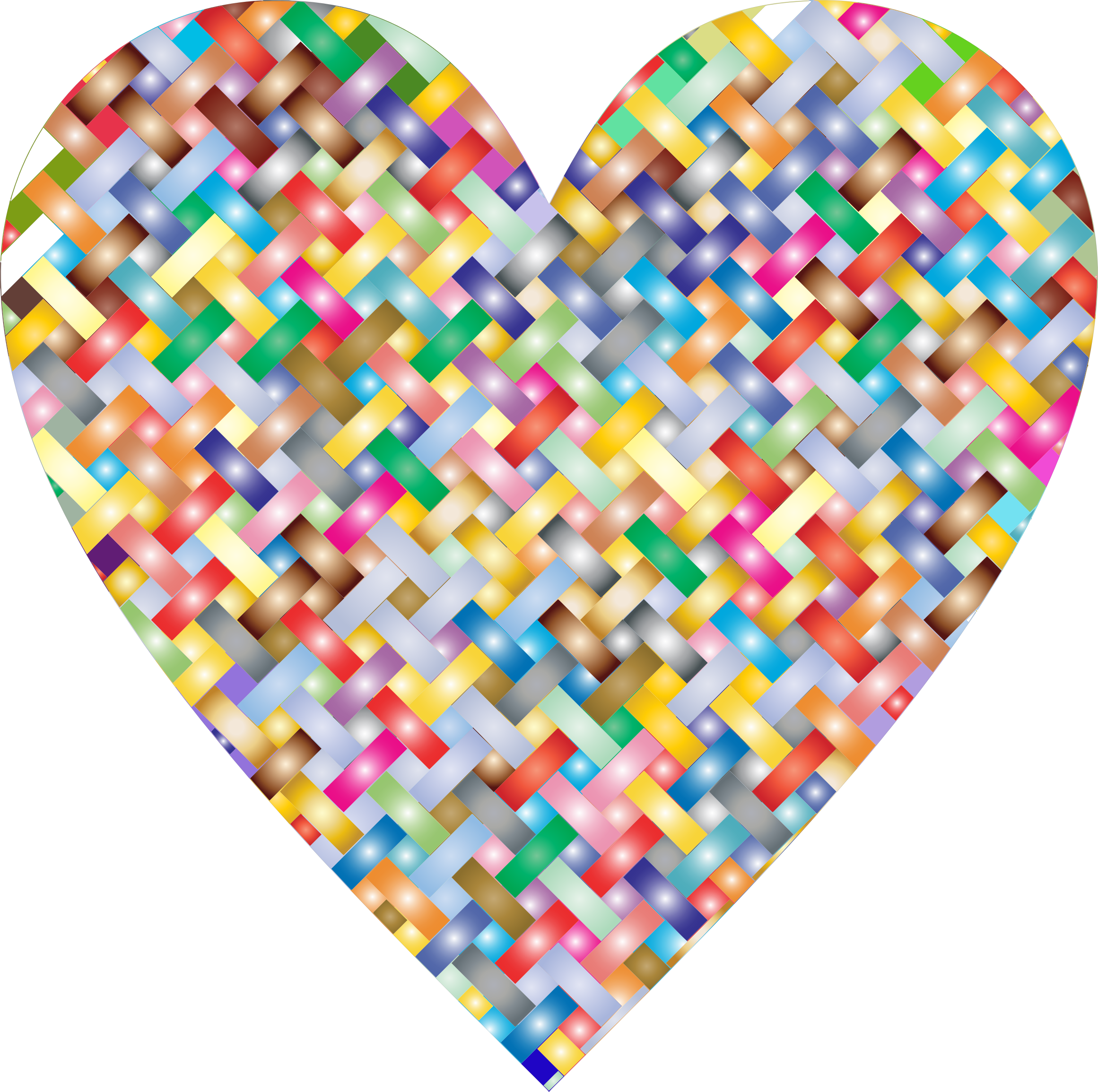 Colorful Heart Lattice Weave 3 by GDJ