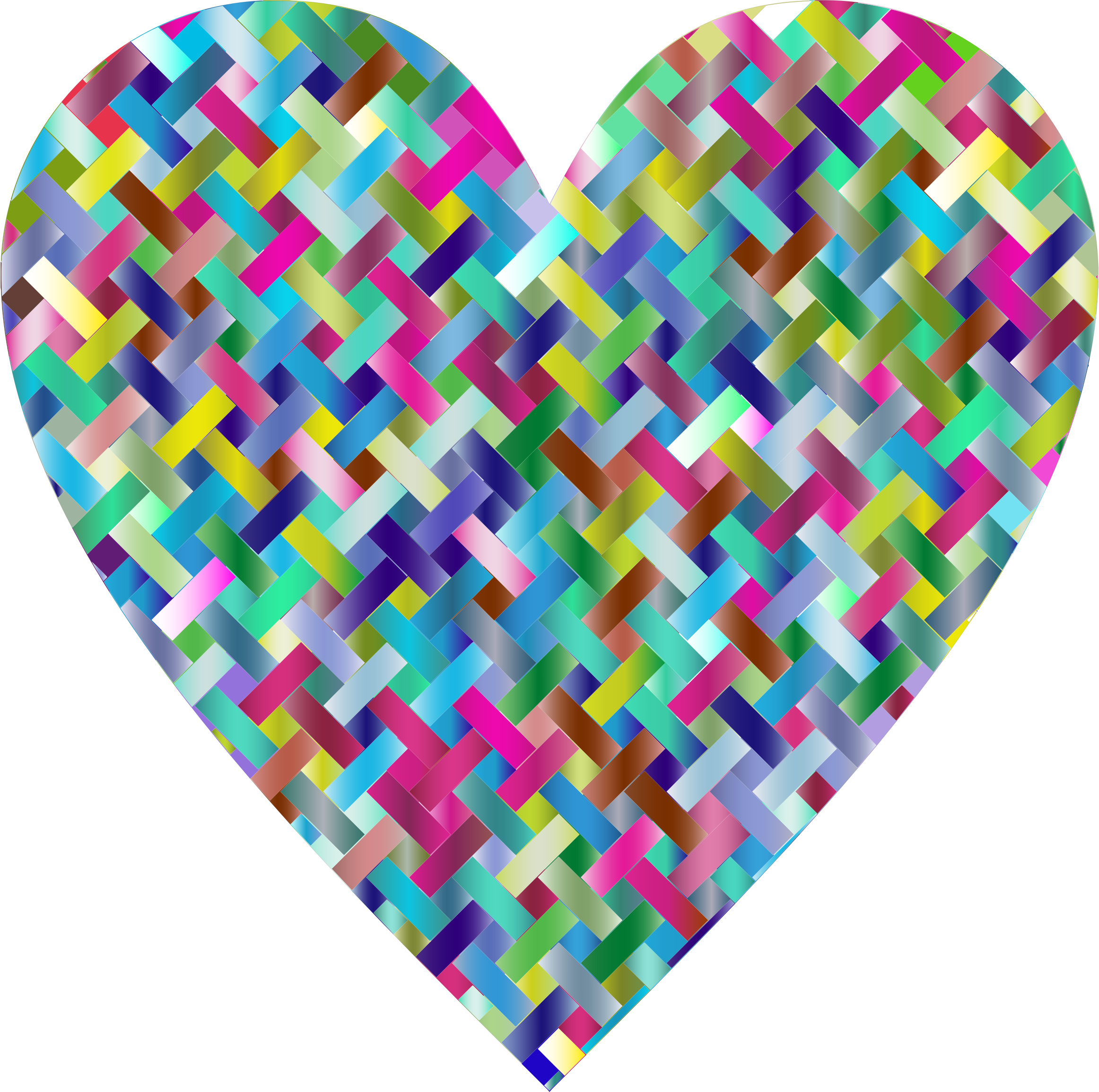 Colorful Heart Lattice Weave 4 by GDJ