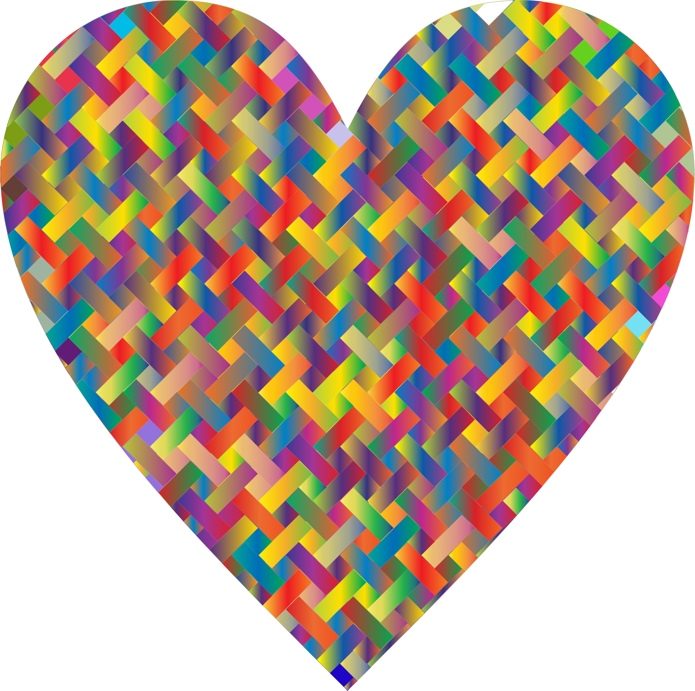 Colorful Heart Lattice Weave 5 by GDJ
