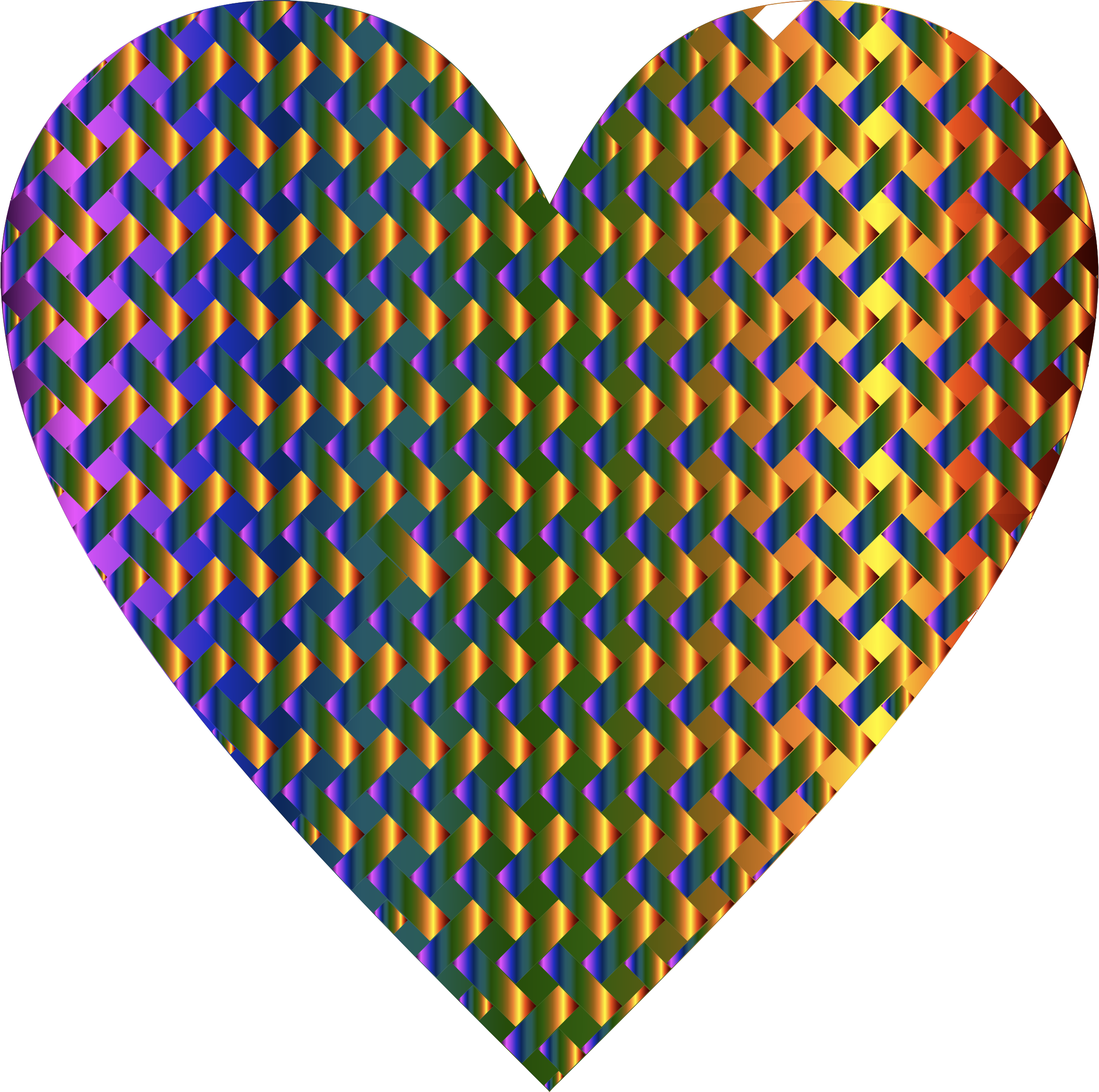 Colorful Heart Lattice Weave 6 by GDJ