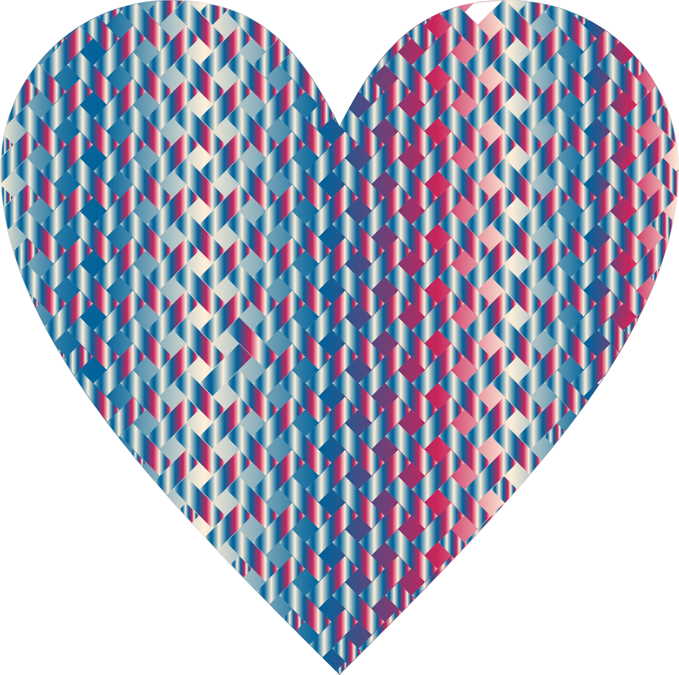 Colorful Heart Lattice Weave 7 by GDJ