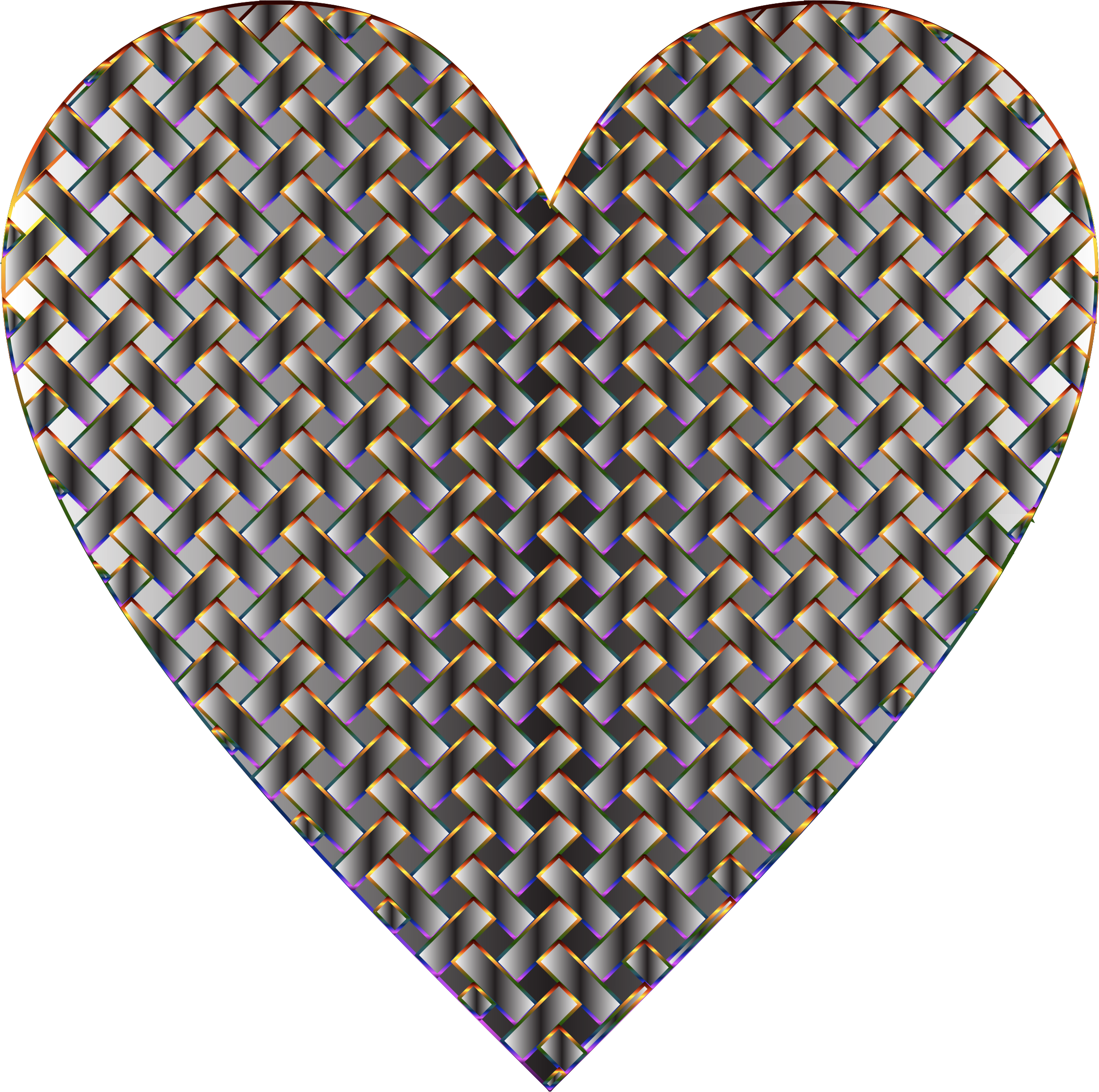 Colorful Heart Lattice Weave 11 by GDJ