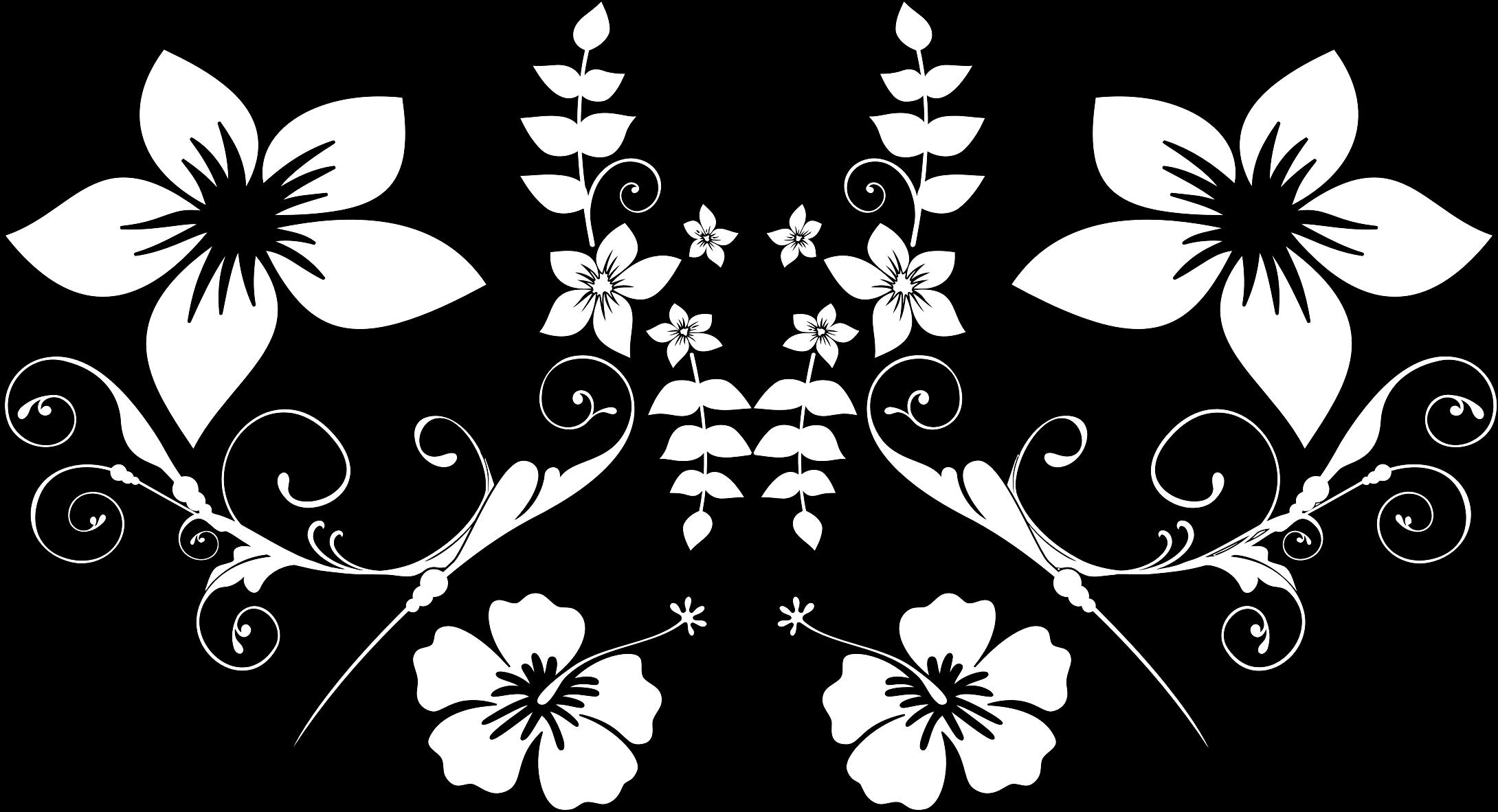 Line Art Floral : Clipart floral line art