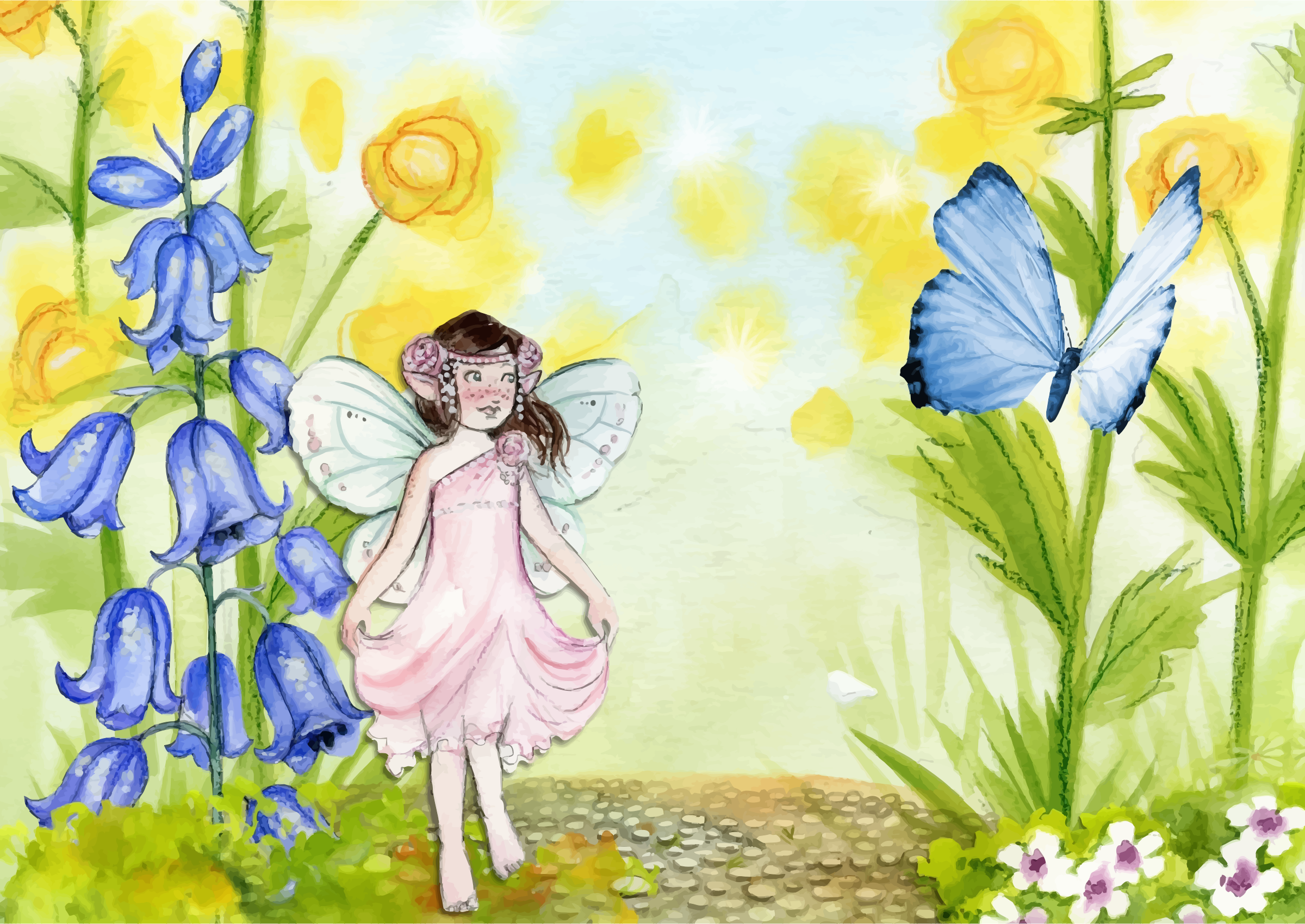 Fairy And Butterfly by GDJ