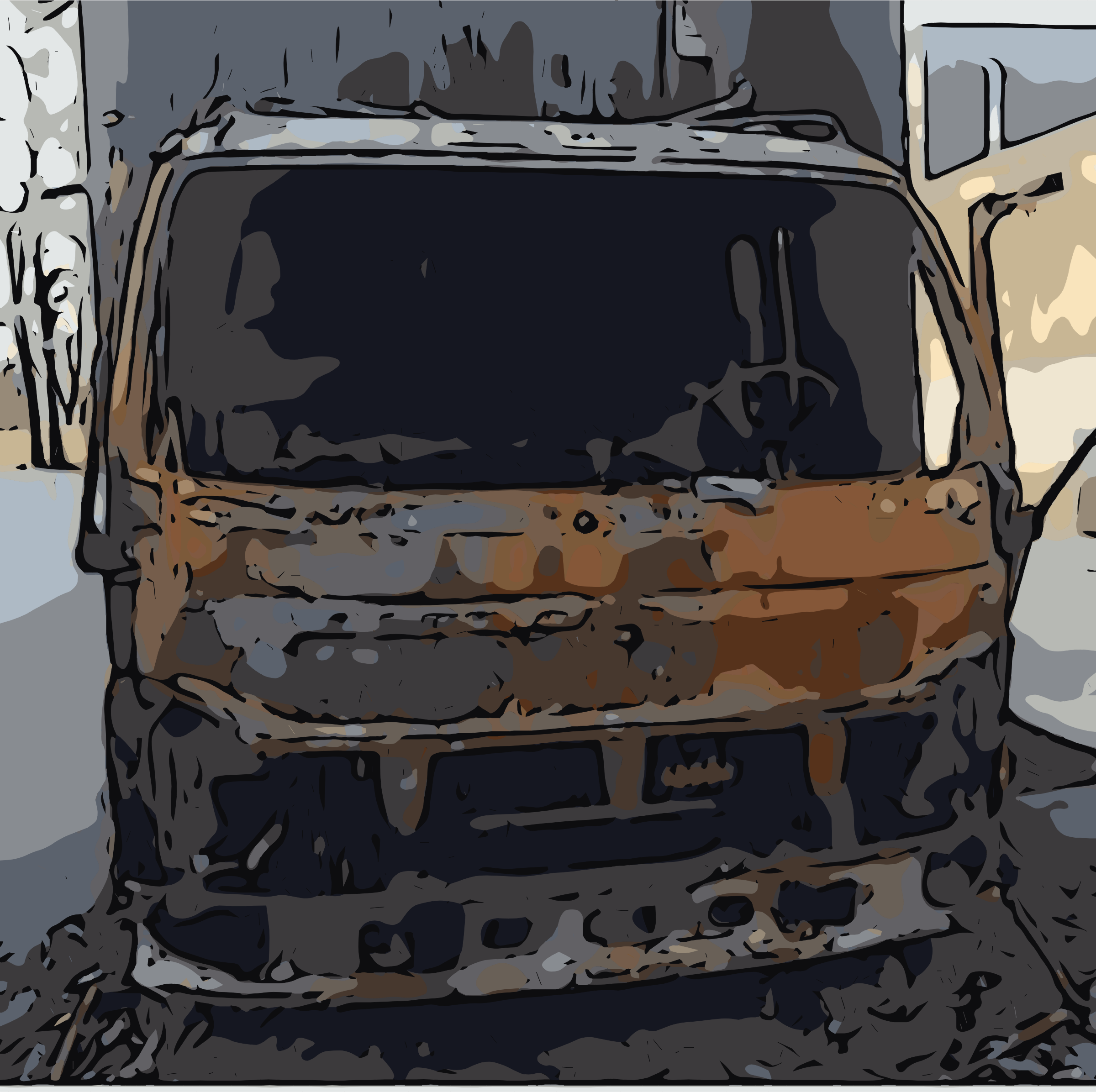 Burnt out truck by rejon