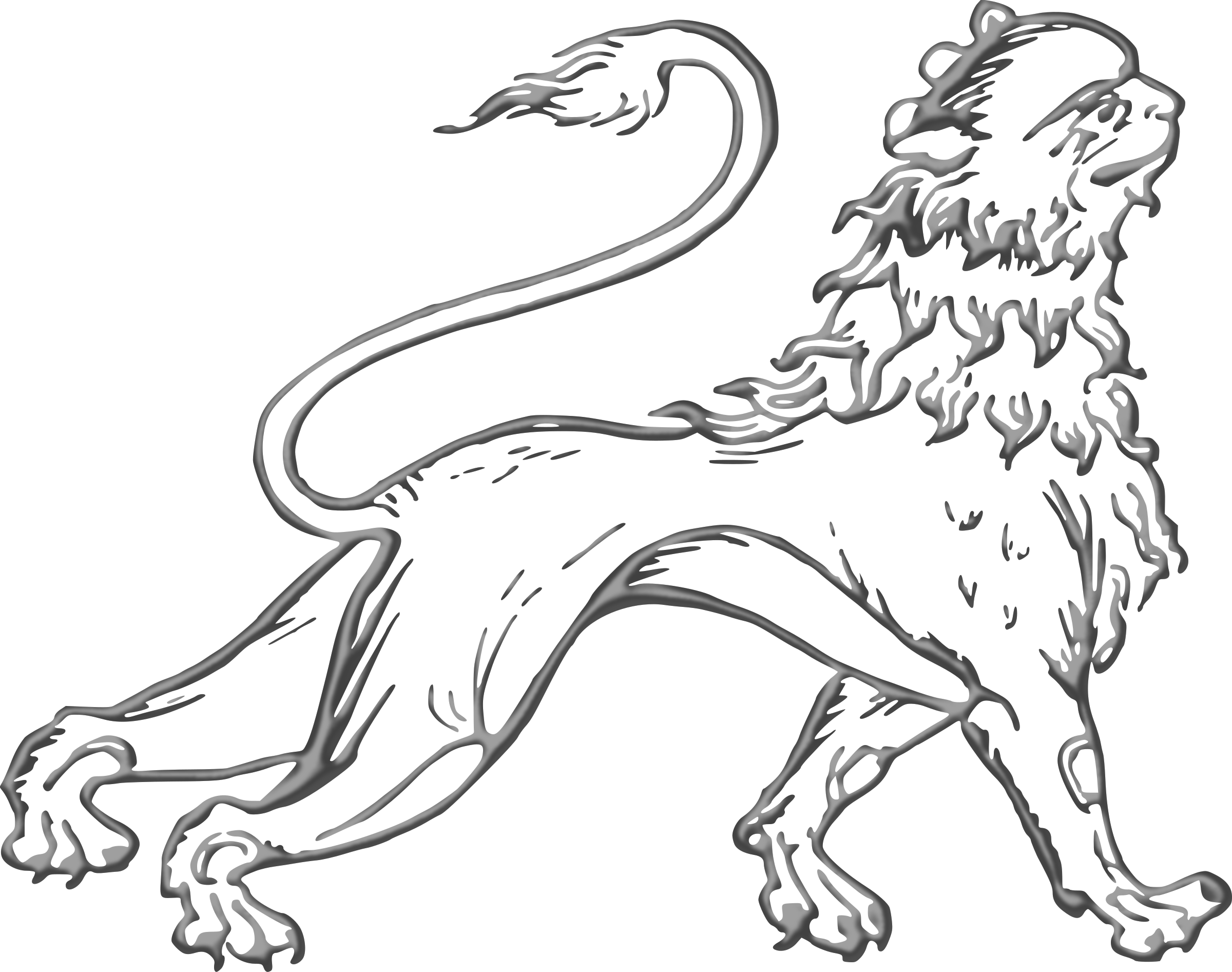 Stylised lion 3 by Firkin