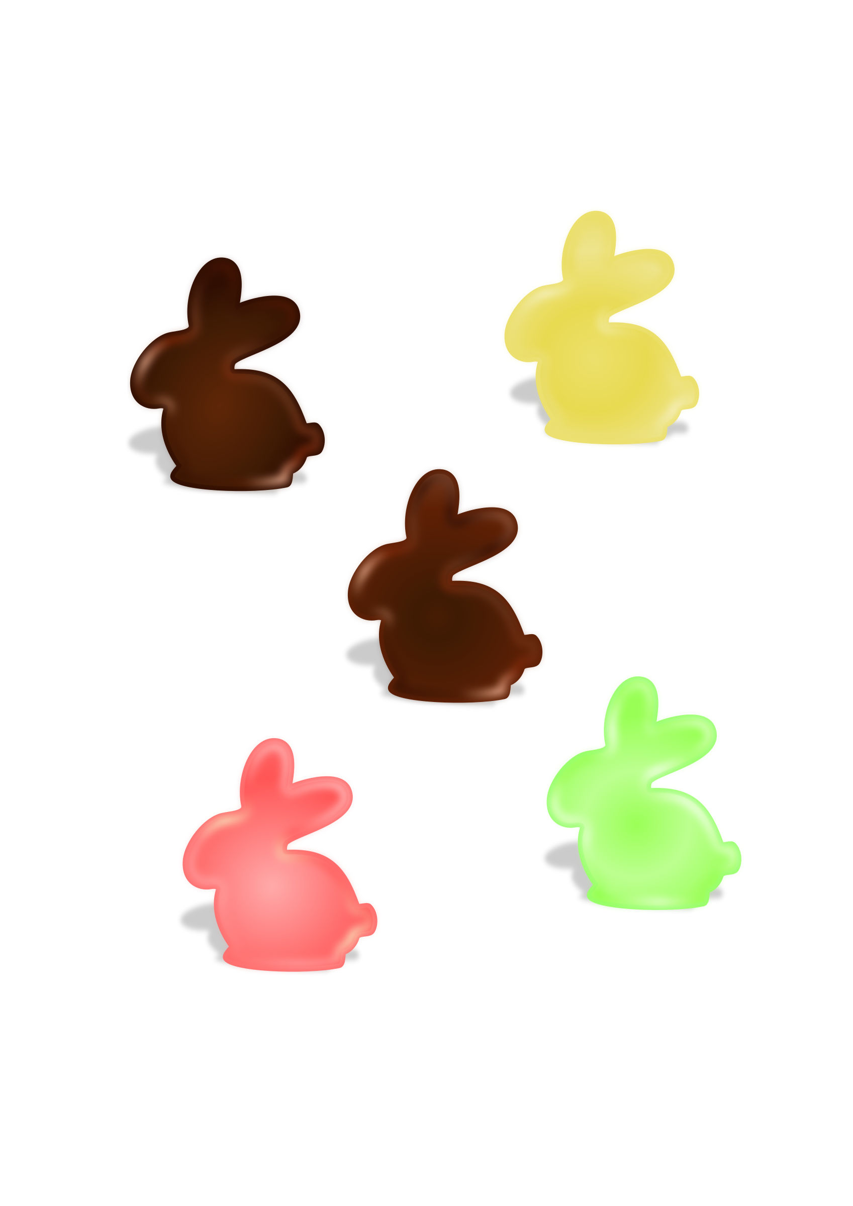 chocolate bunnys by Ana.