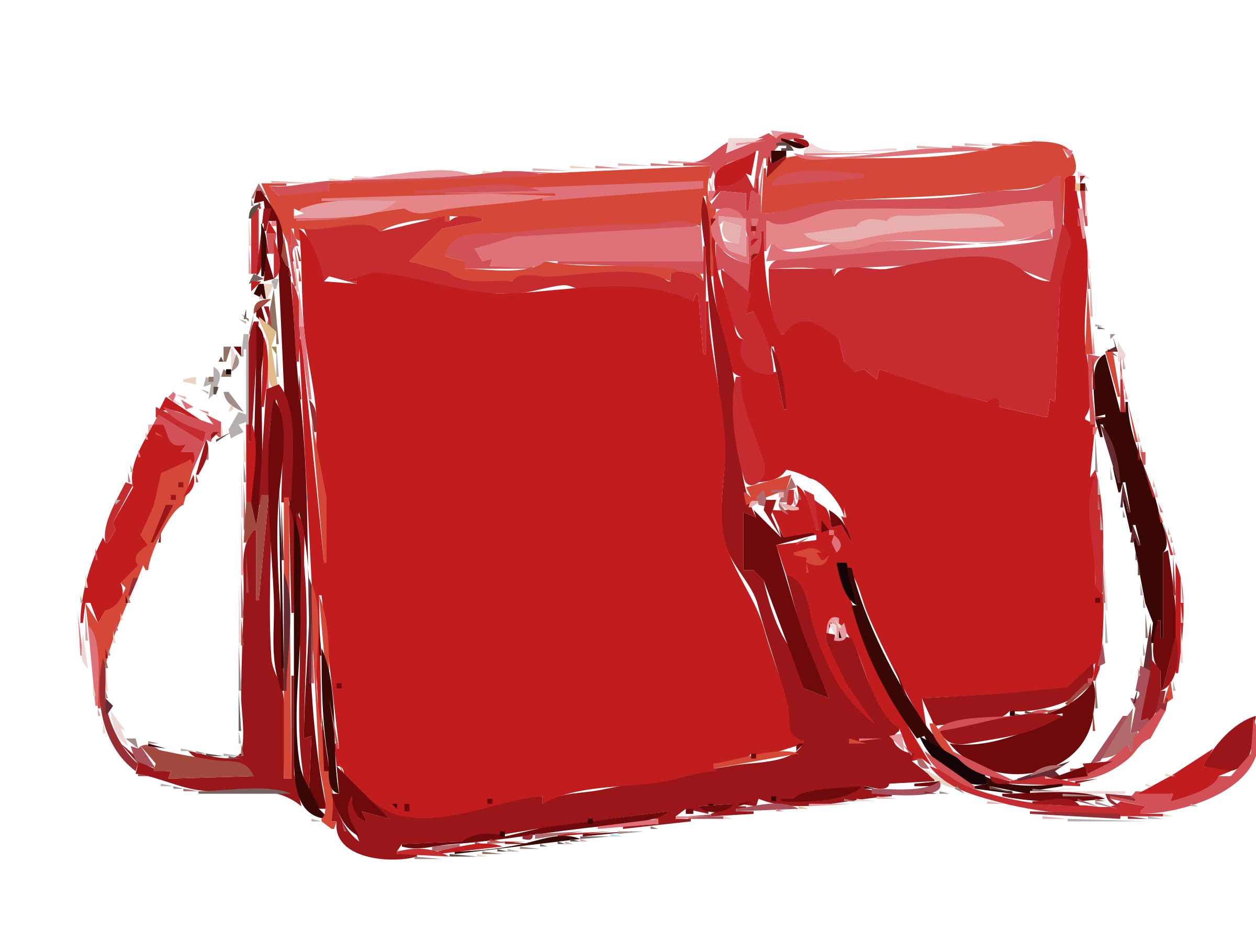 Red Leather Handbag without logo by rejon