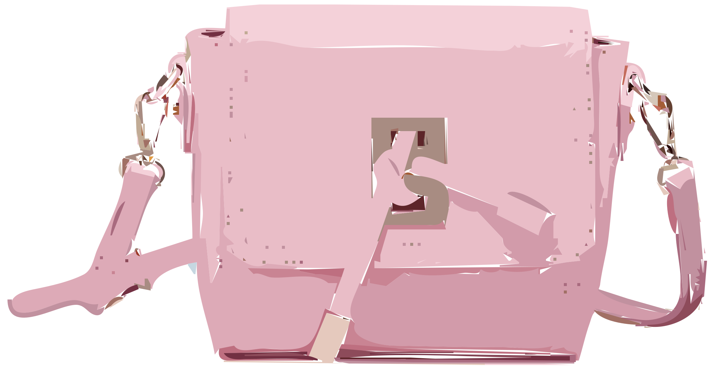 Pink Leather Handbag without logo by rejon