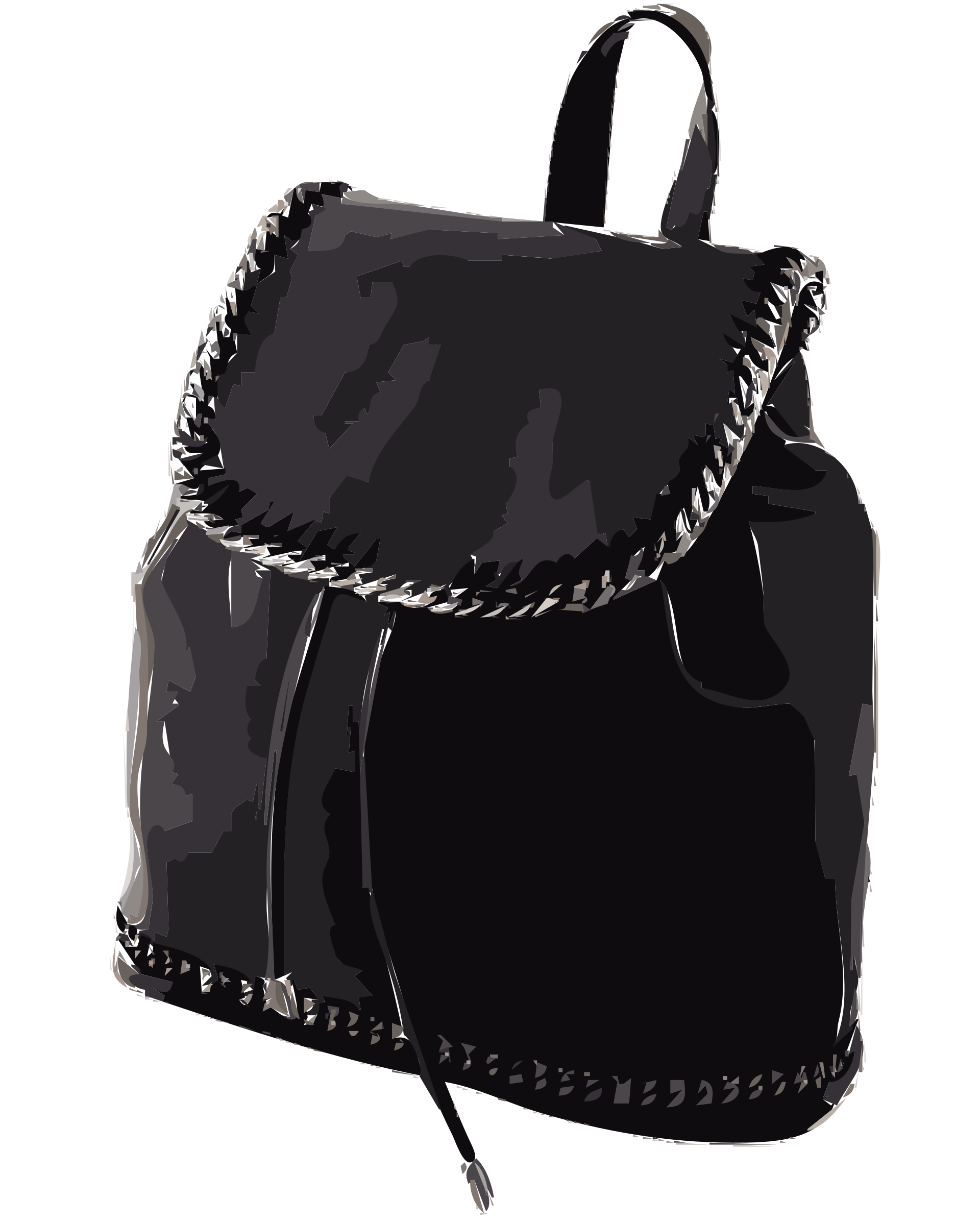 Black Leather Backpack without logo by rejon