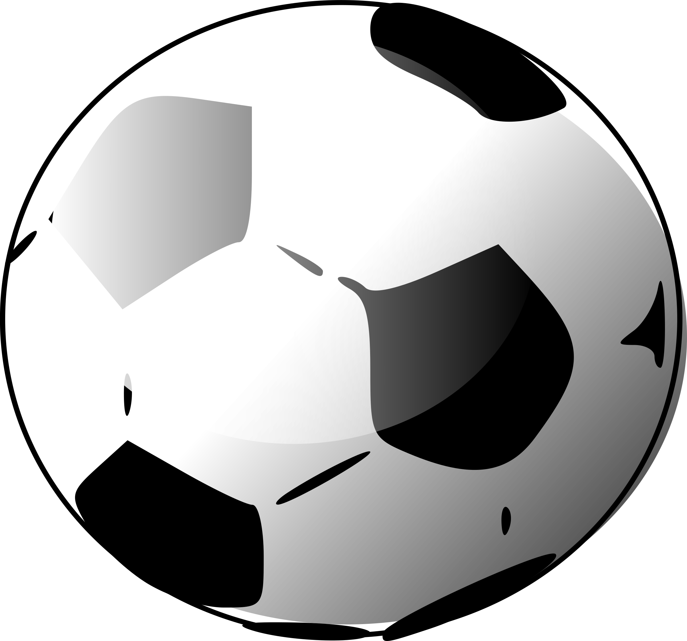 soccer ball by Anonymous
