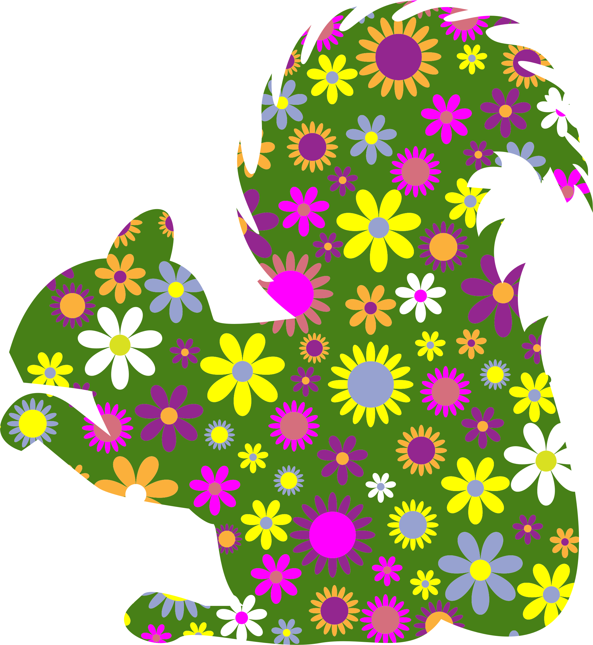 Retro Floral Squirrel Profile by GDJ
