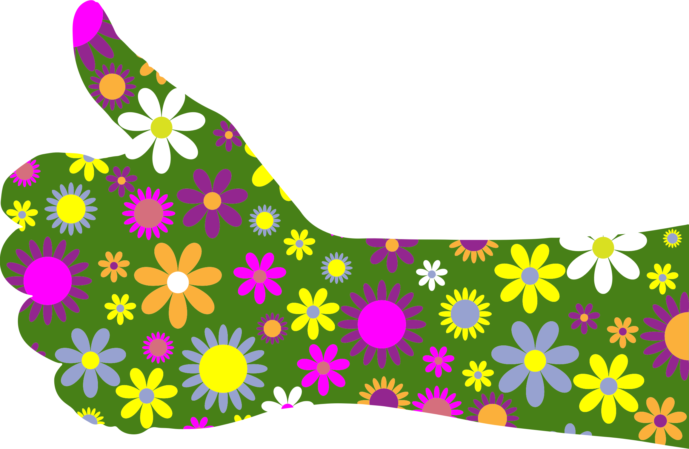 Retro Floral Thumbs Up Arm by GDJ
