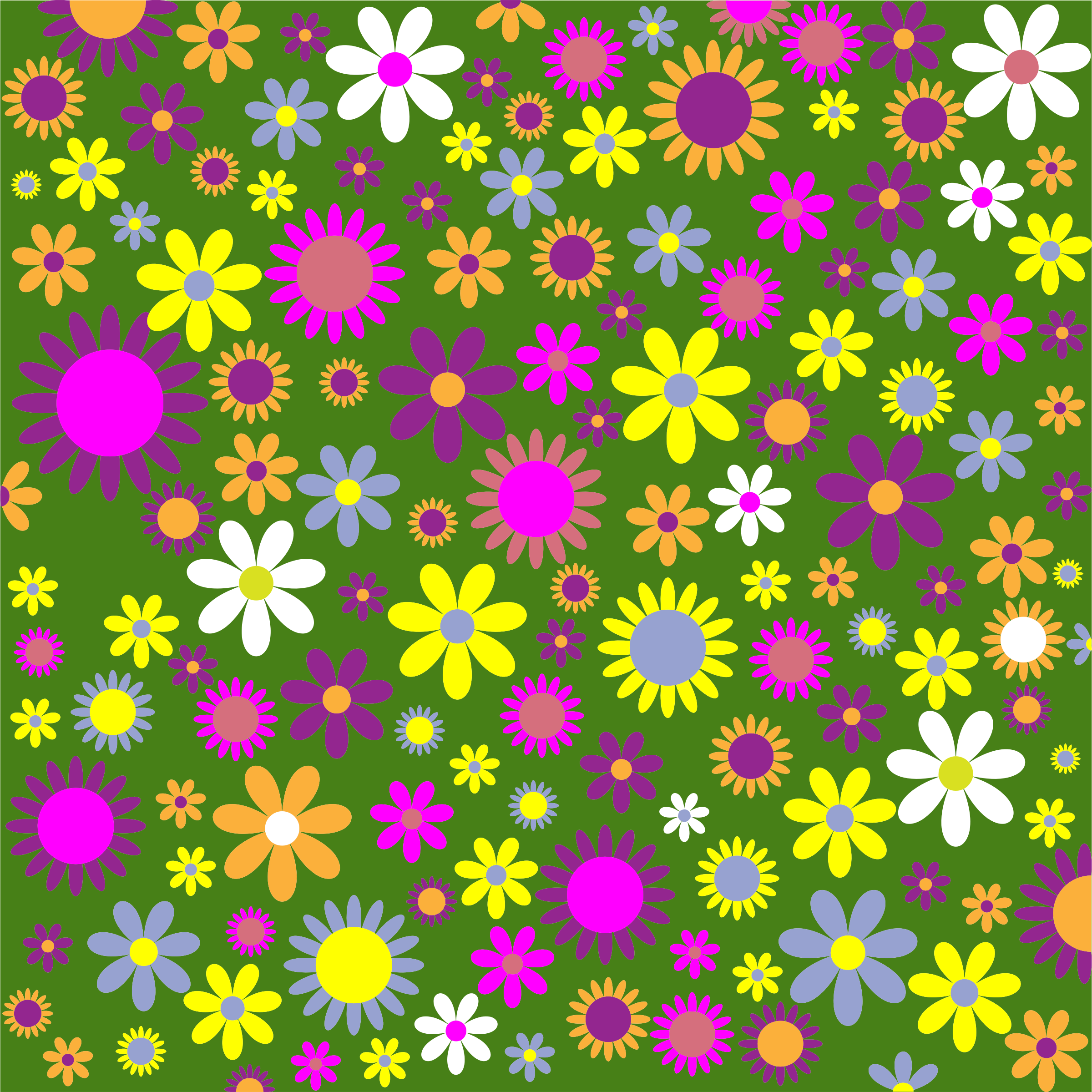 Retro Floral Background Pattern by GDJ
