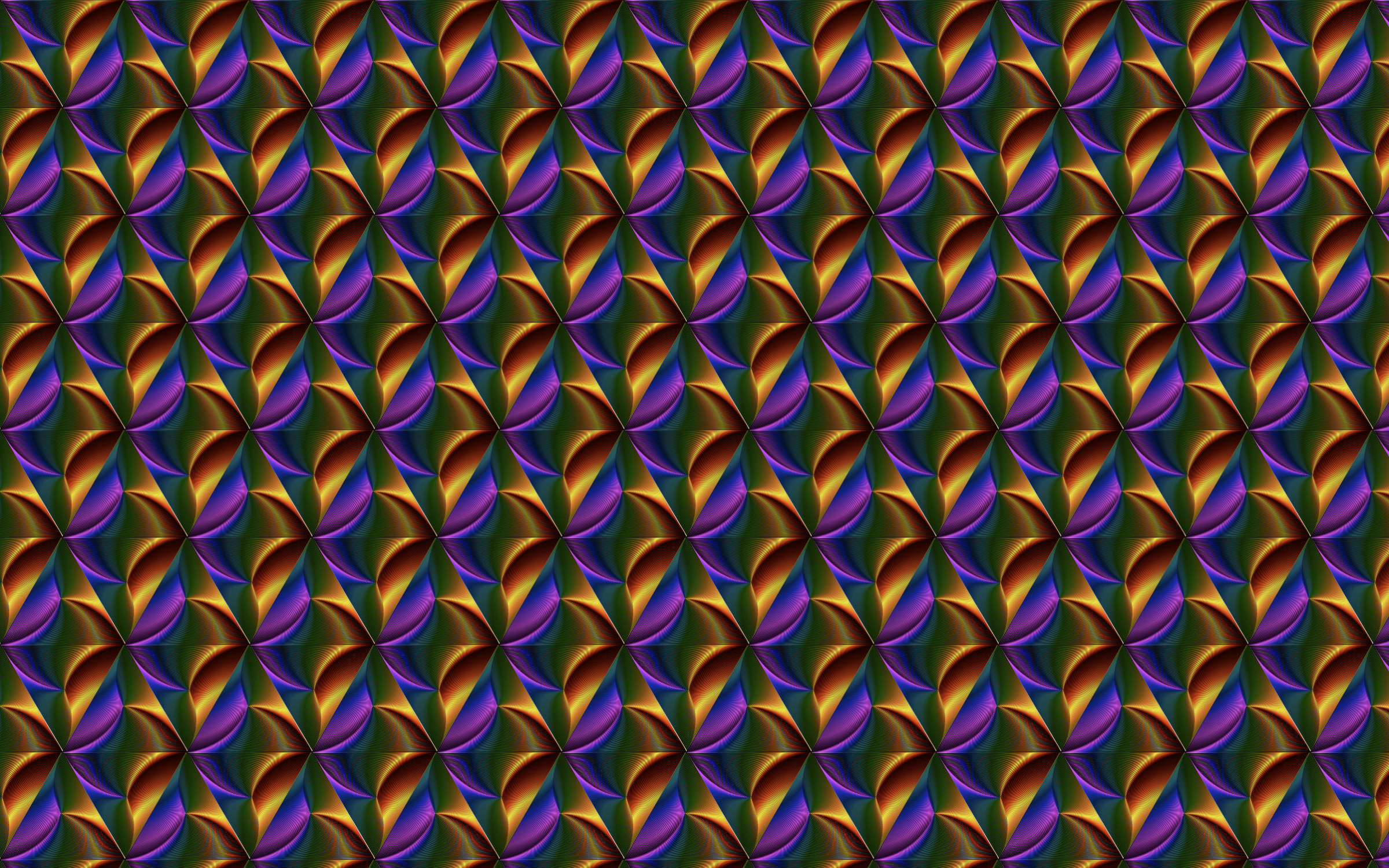 Seamless Prismatic Line Art Pattern by GDJ
