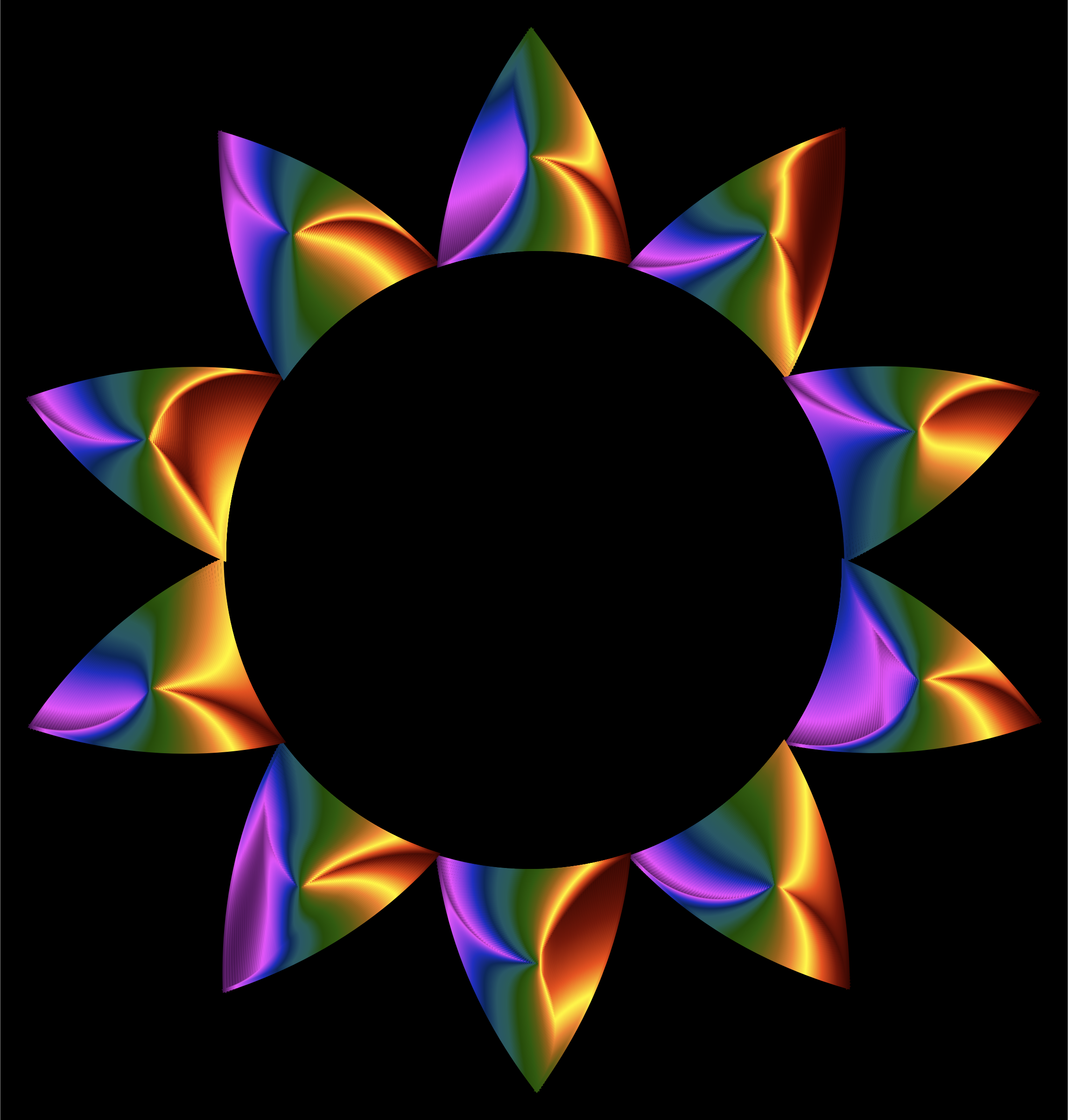 Prismatic Sun Line Art by GDJ