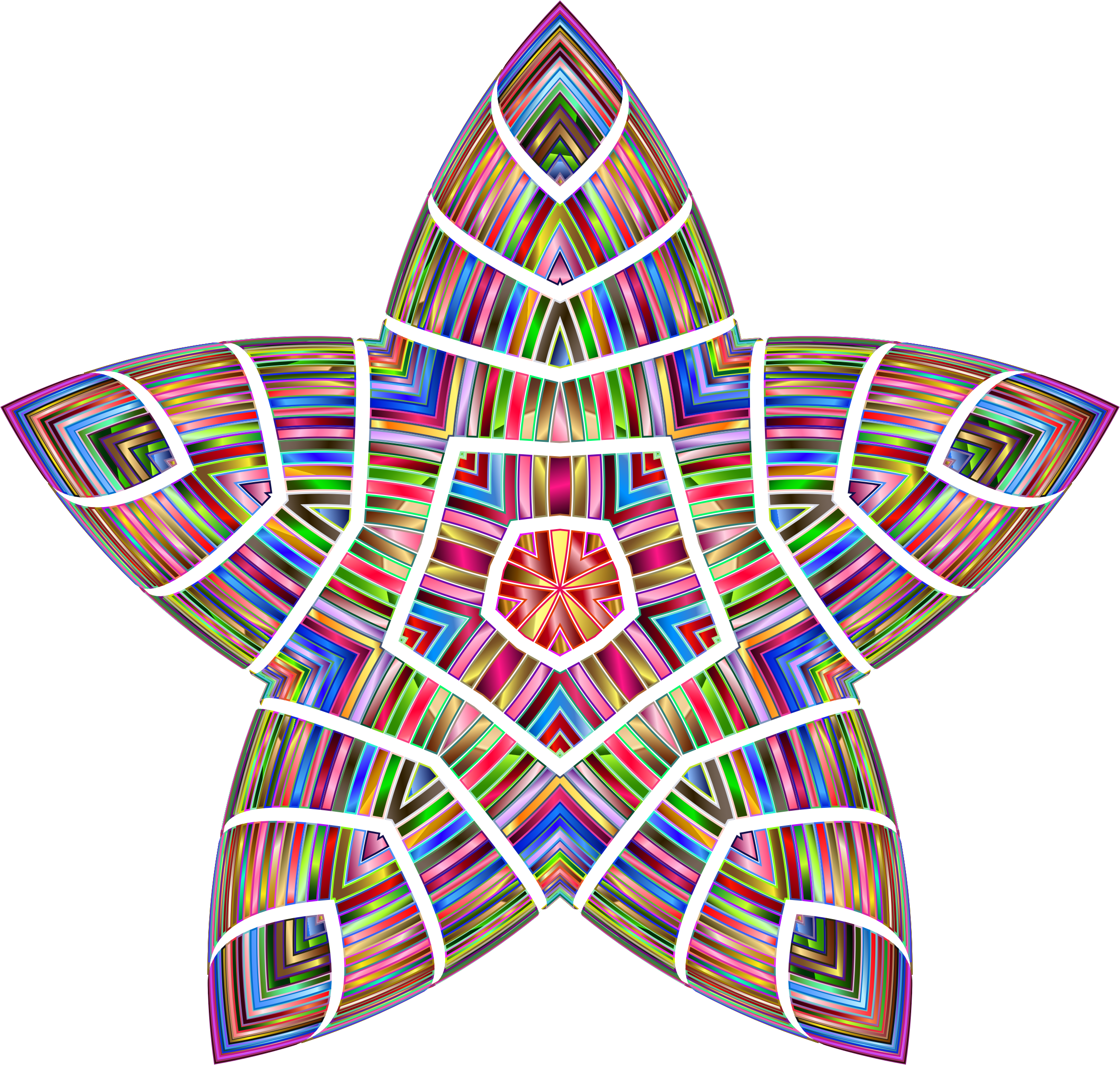 Chromatic Chubby Star by GDJ