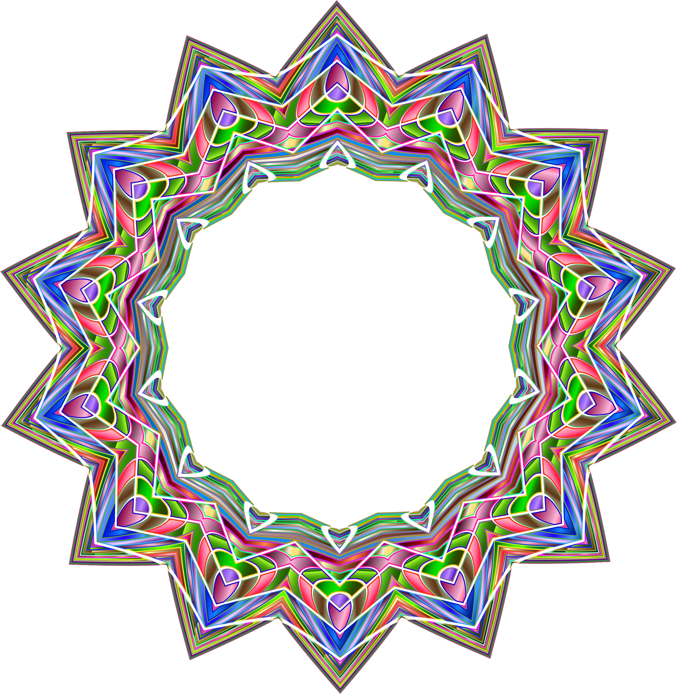 Chromatic Geometric Frame by GDJ